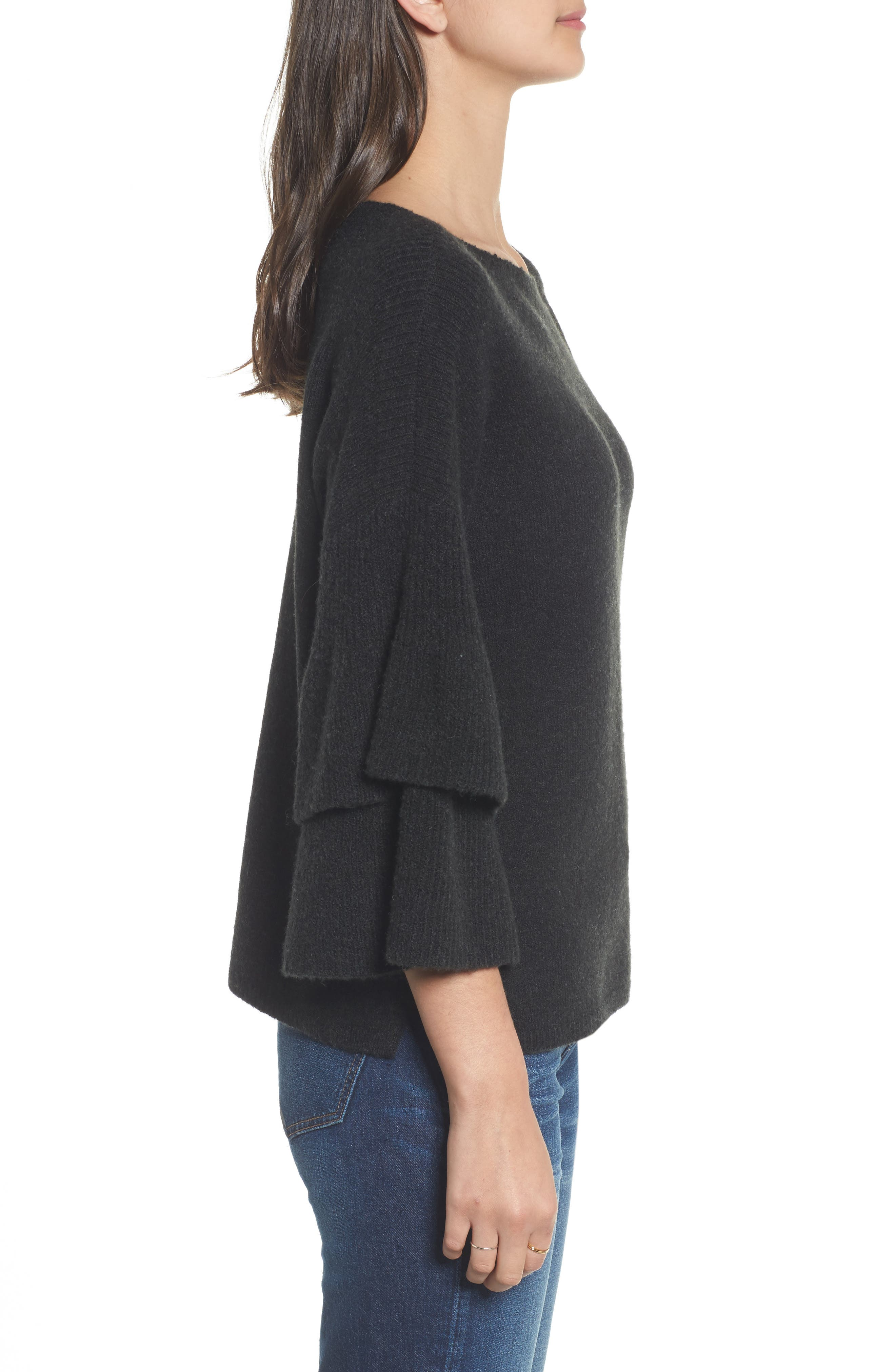 Tier Sleeve Sweater,                             Alternate thumbnail 7, color,