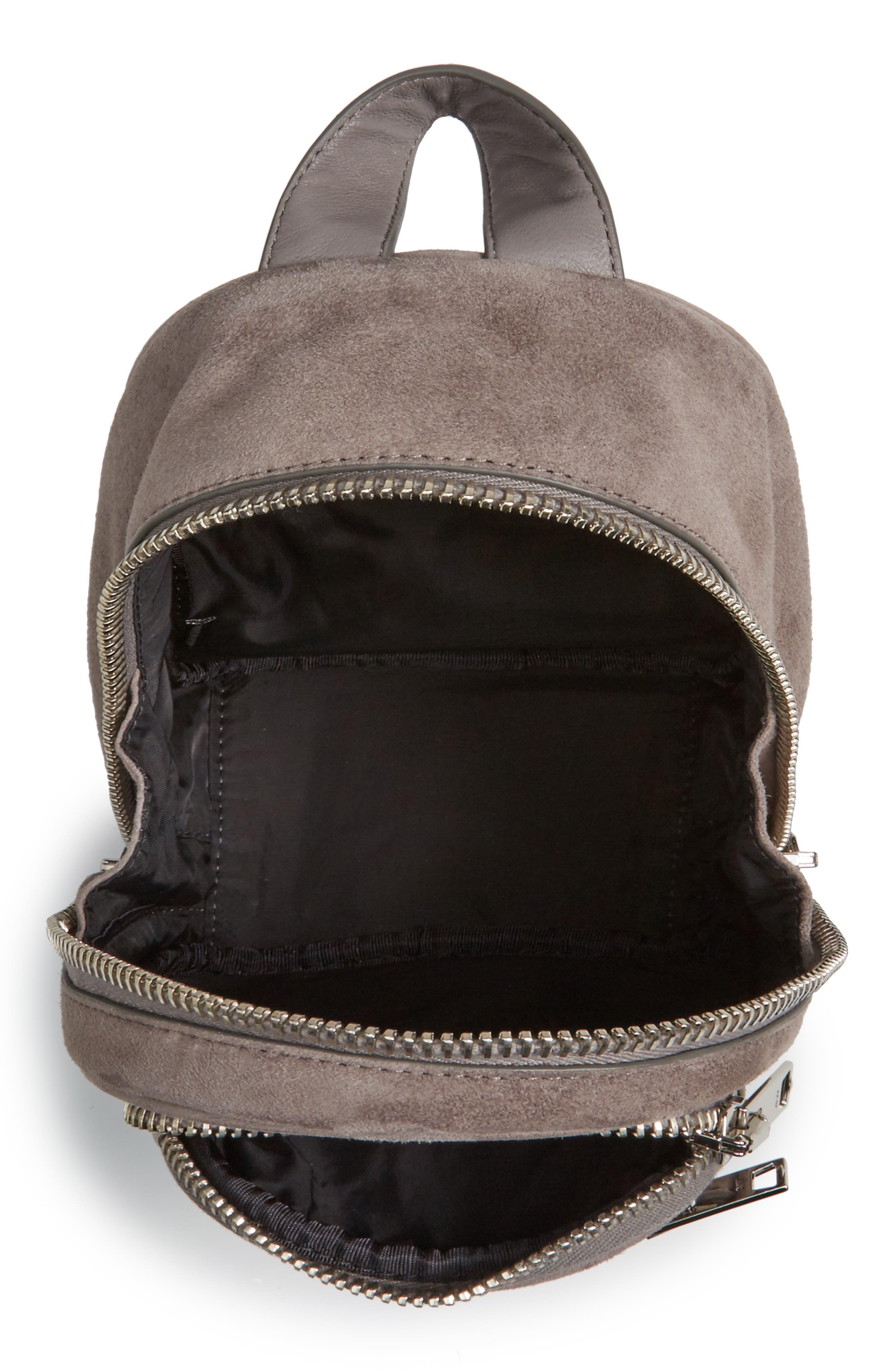 Mini Attica Leather Crossbody Backpack,                             Alternate thumbnail 4, color,                             080