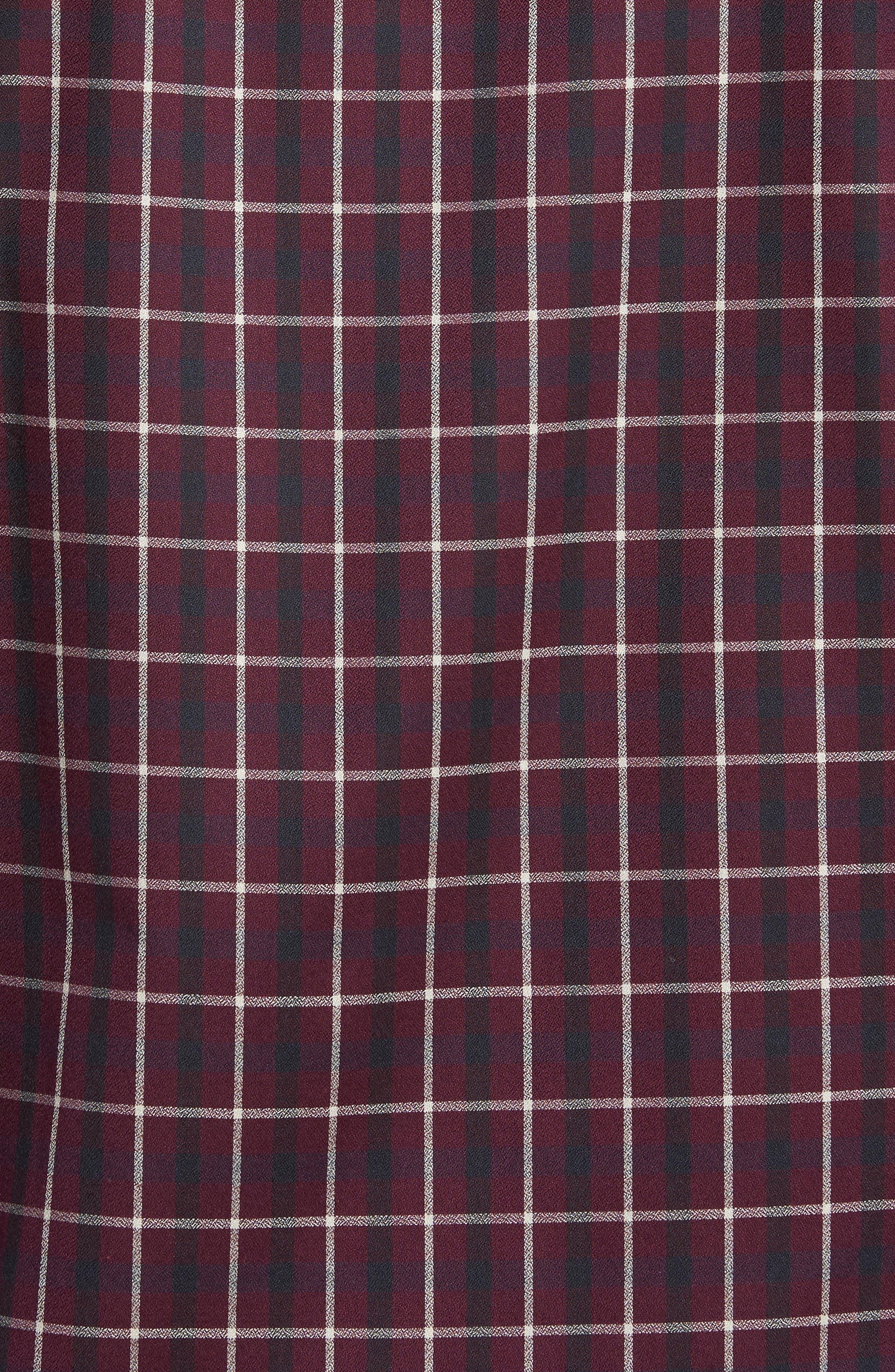 Shaped Fit Plaid Sport Shirt,                             Alternate thumbnail 5, color,                             610
