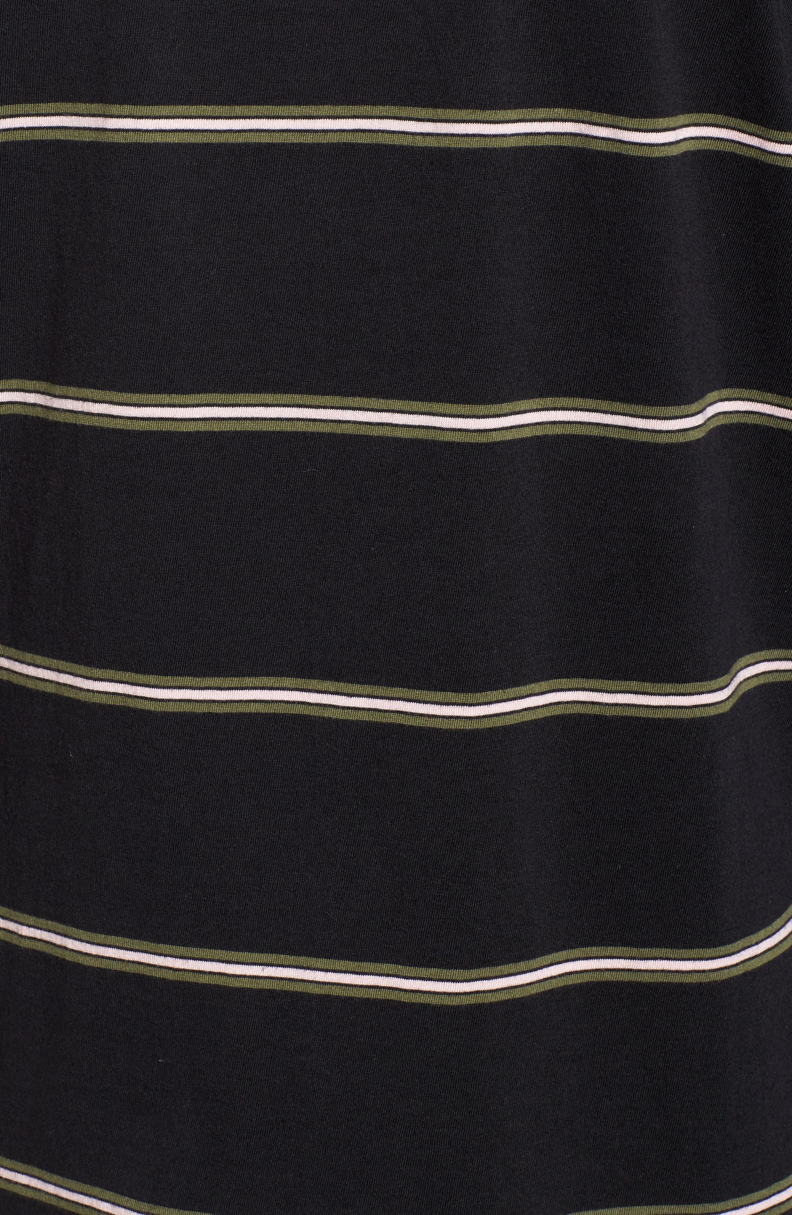 Die Cut Hooded Long Sleeve T-Shirt,                             Alternate thumbnail 5, color,                             001