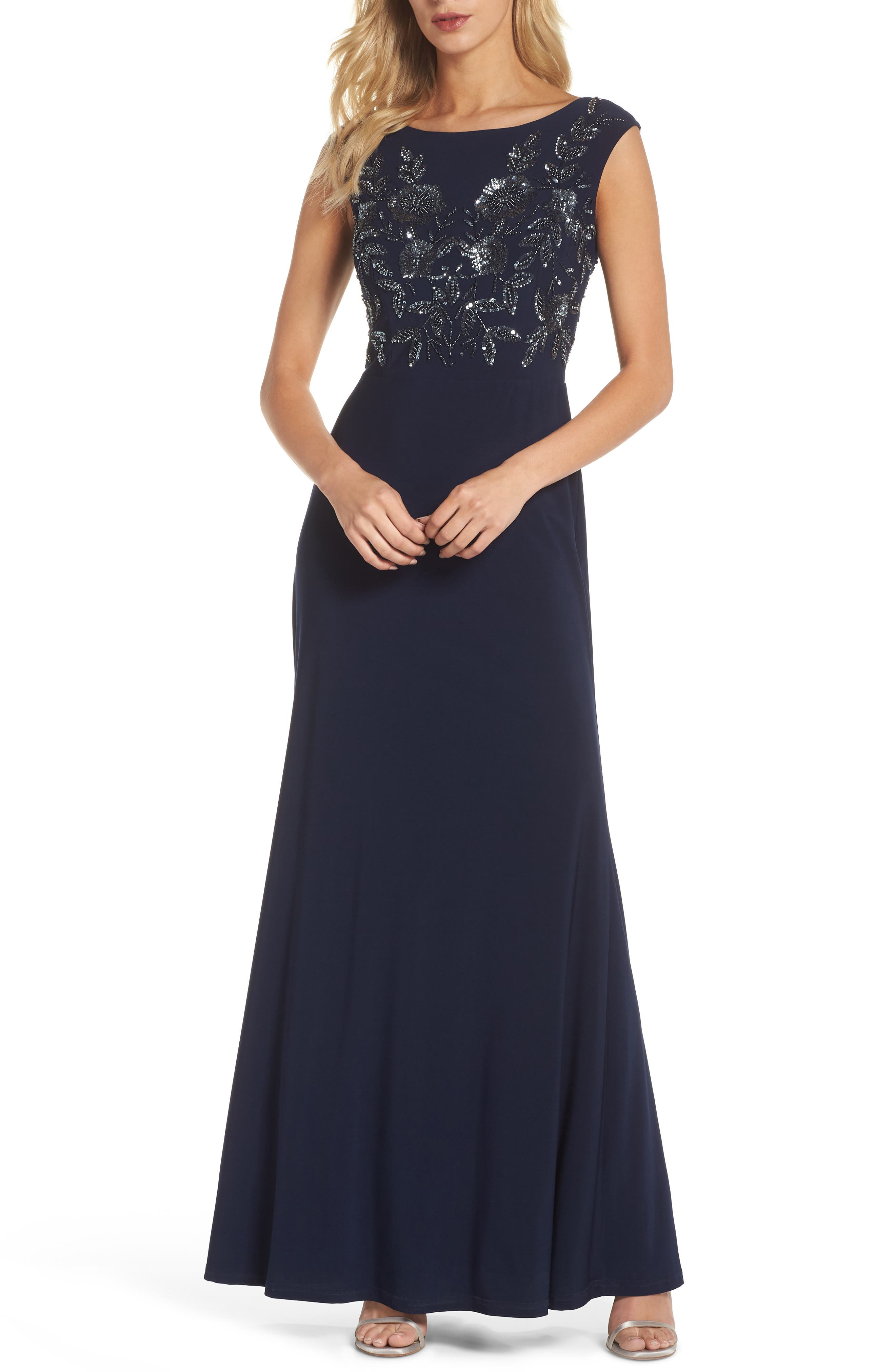 Beaded Gown,                             Main thumbnail 1, color,