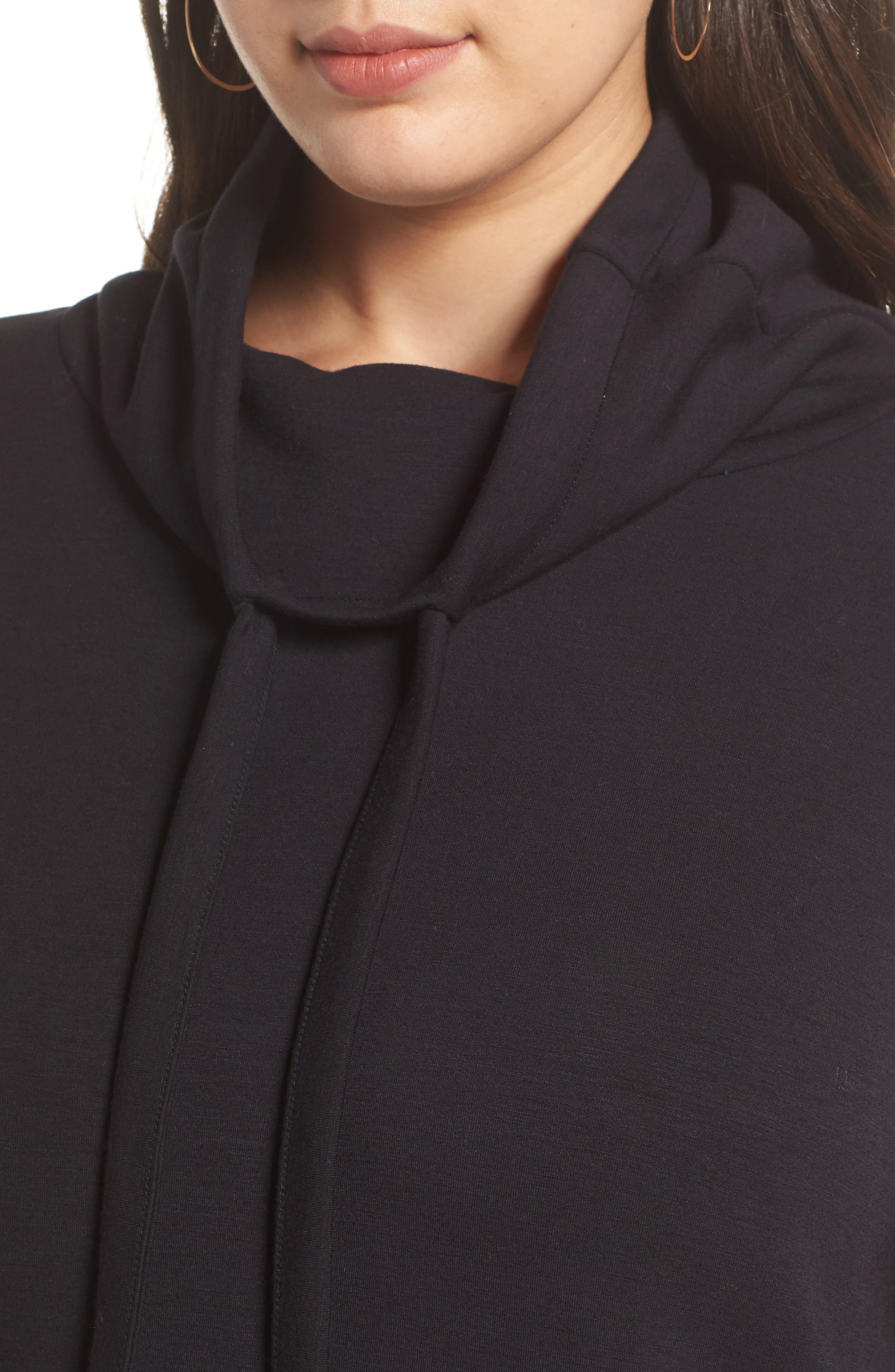 HALOGEN<SUP>®</SUP>,                             Cowl Neck Sweatshirt,                             Alternate thumbnail 4, color,                             001
