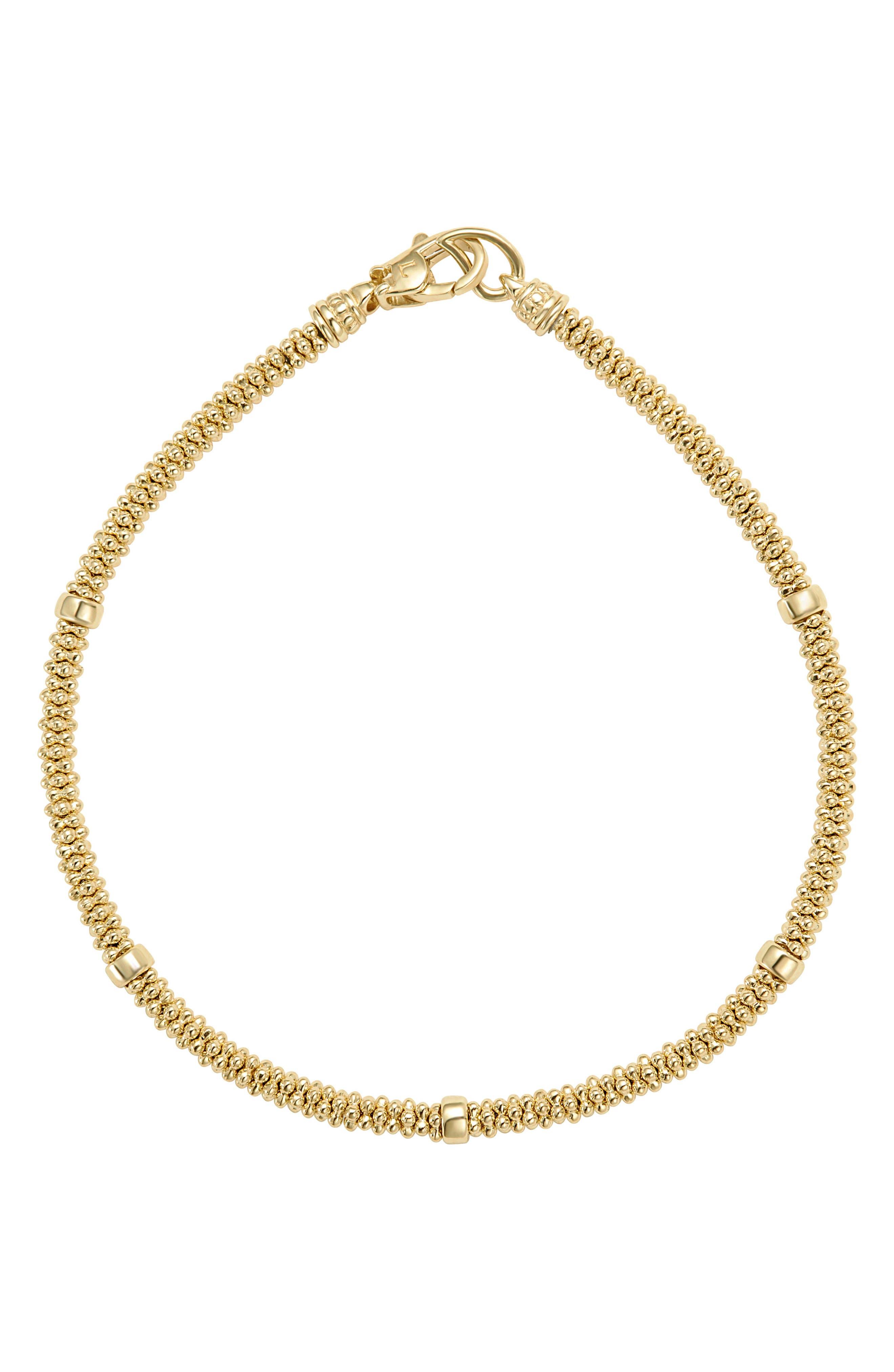 LAGOS Caviar Gold Rope Bracelet, Main, color, GOLD