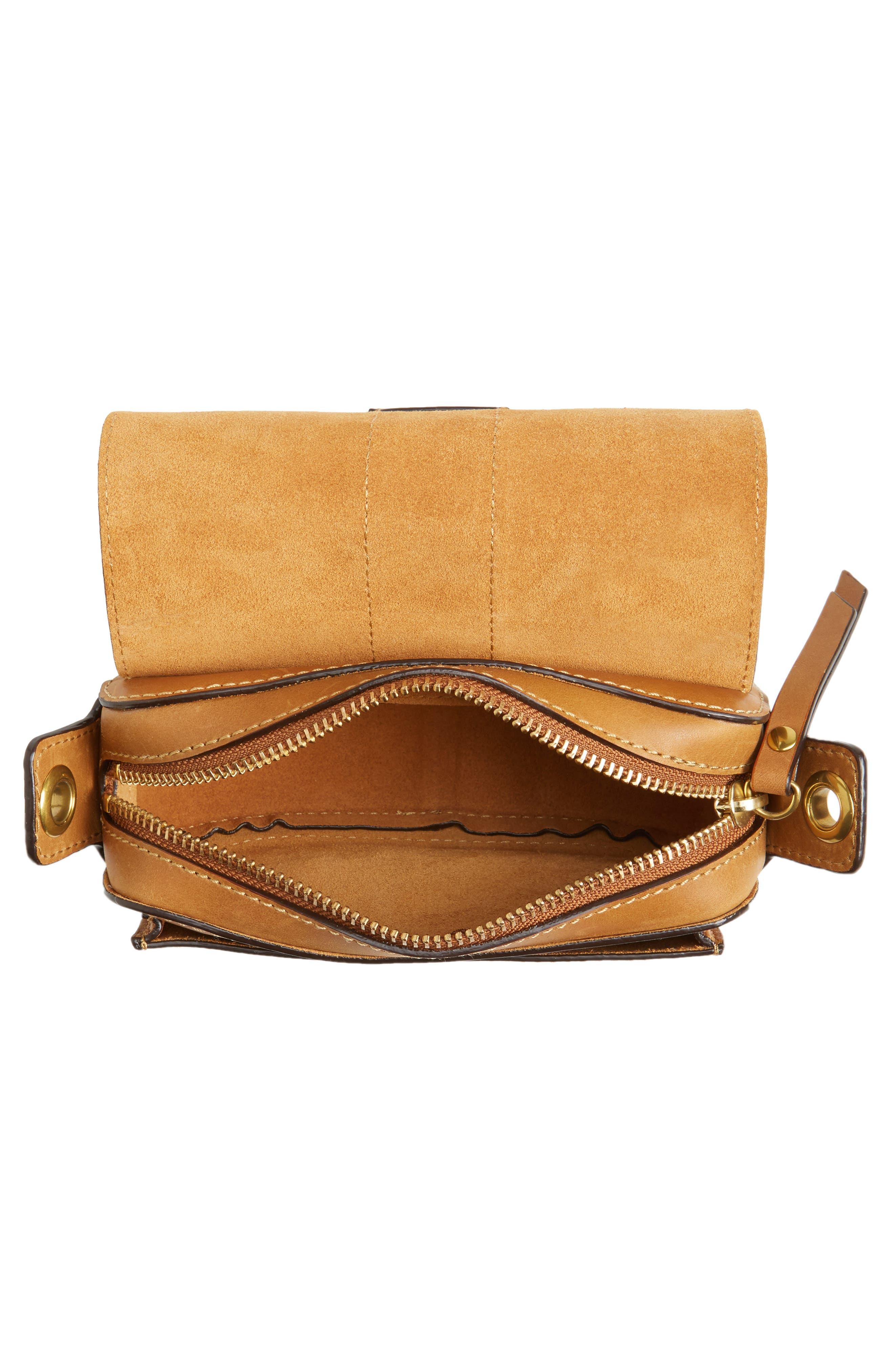Mini Ilana Harness Leather Saddle Bag,                             Alternate thumbnail 8, color,