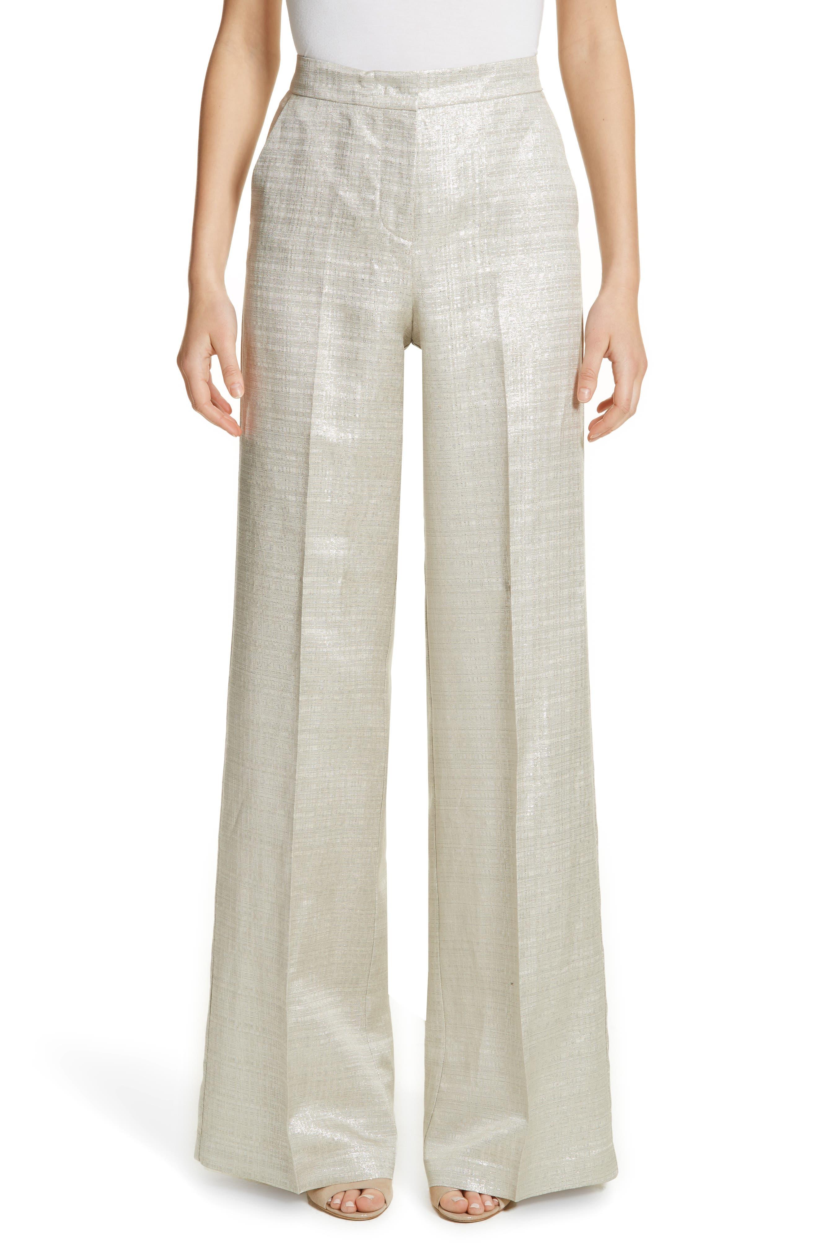 Metallic Wide Leg Pants,                             Main thumbnail 1, color,                             041