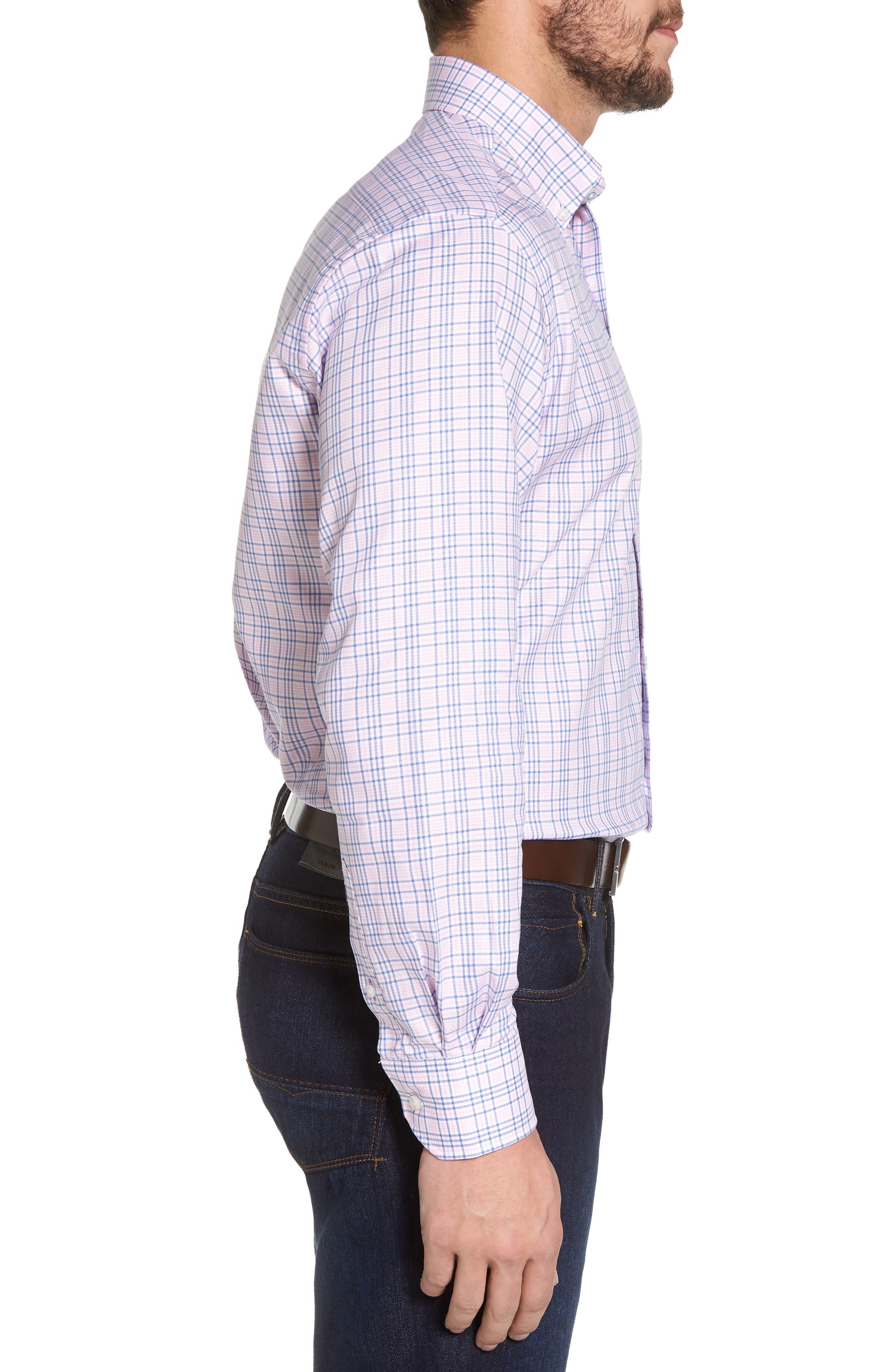 Barry Regular Fit Plaid Sport Shirt,                             Alternate thumbnail 3, color,                             650