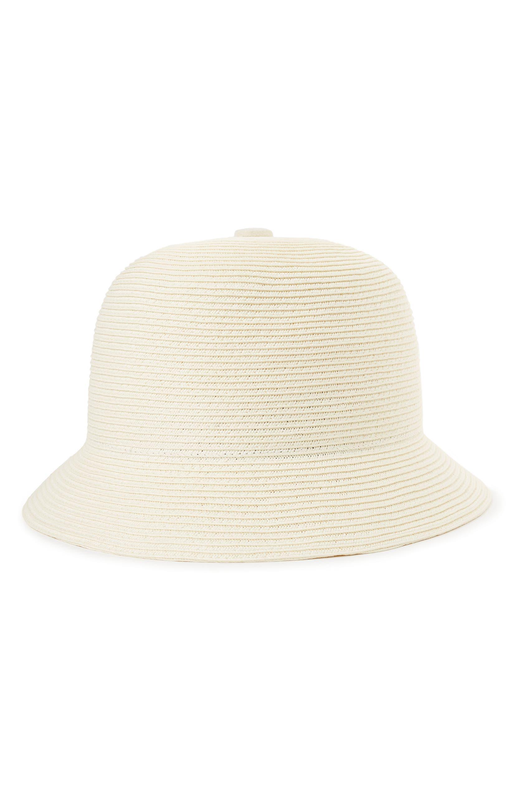 Brixton Essex Straw Bucket Hat  7fbc6284b64