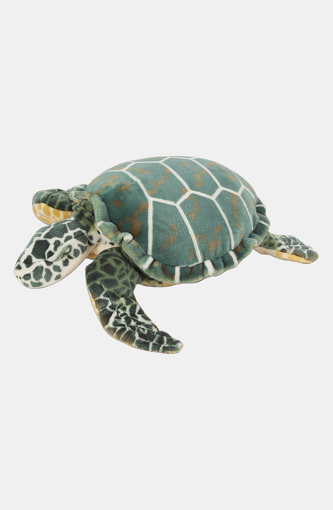 Oversized Plush Stuffed Sea Turtle,                         Main,                         color, 960