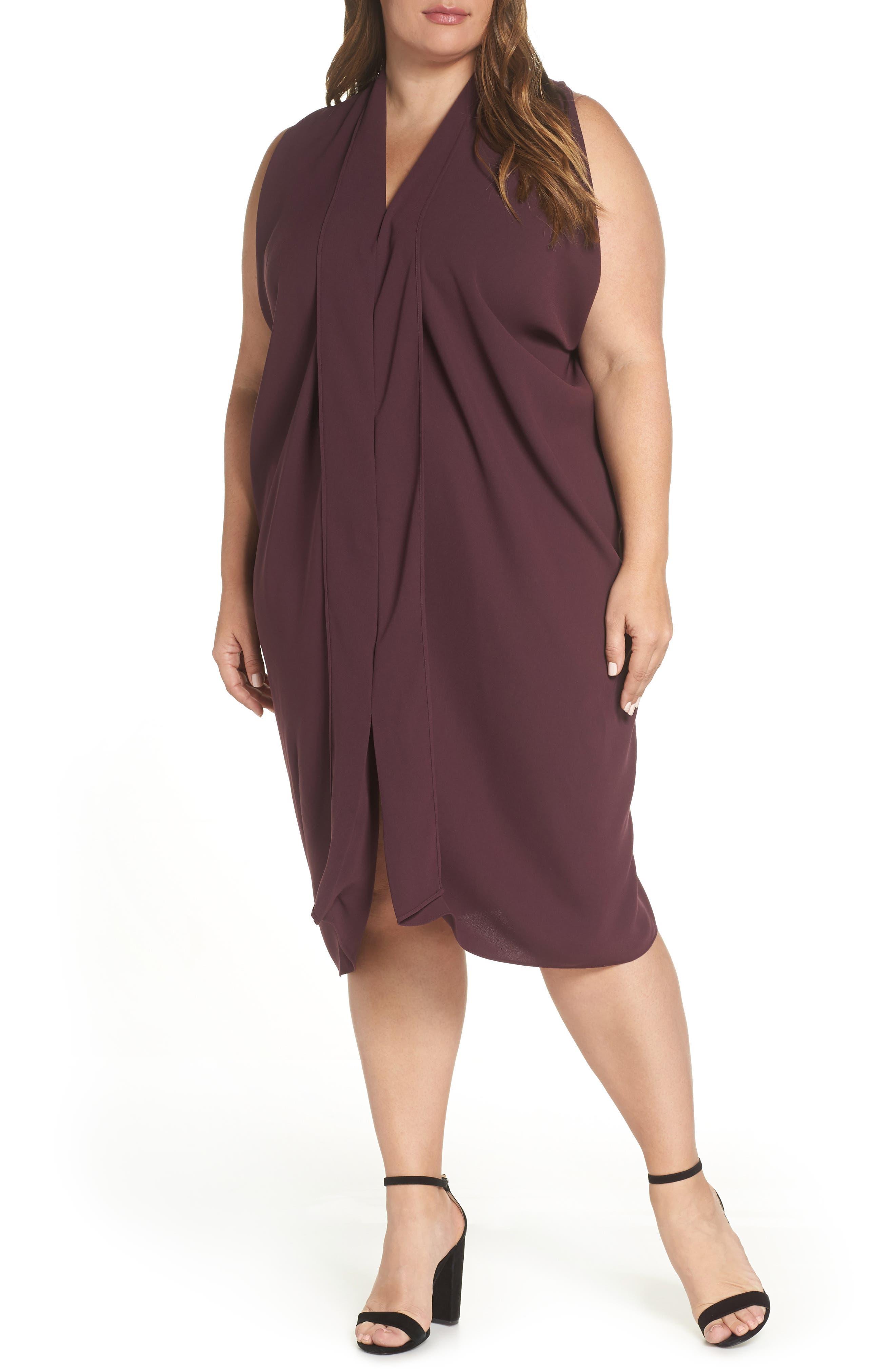 Plus Size Rachel Rachel Roy Daina Drapey Midi Dress, Blue