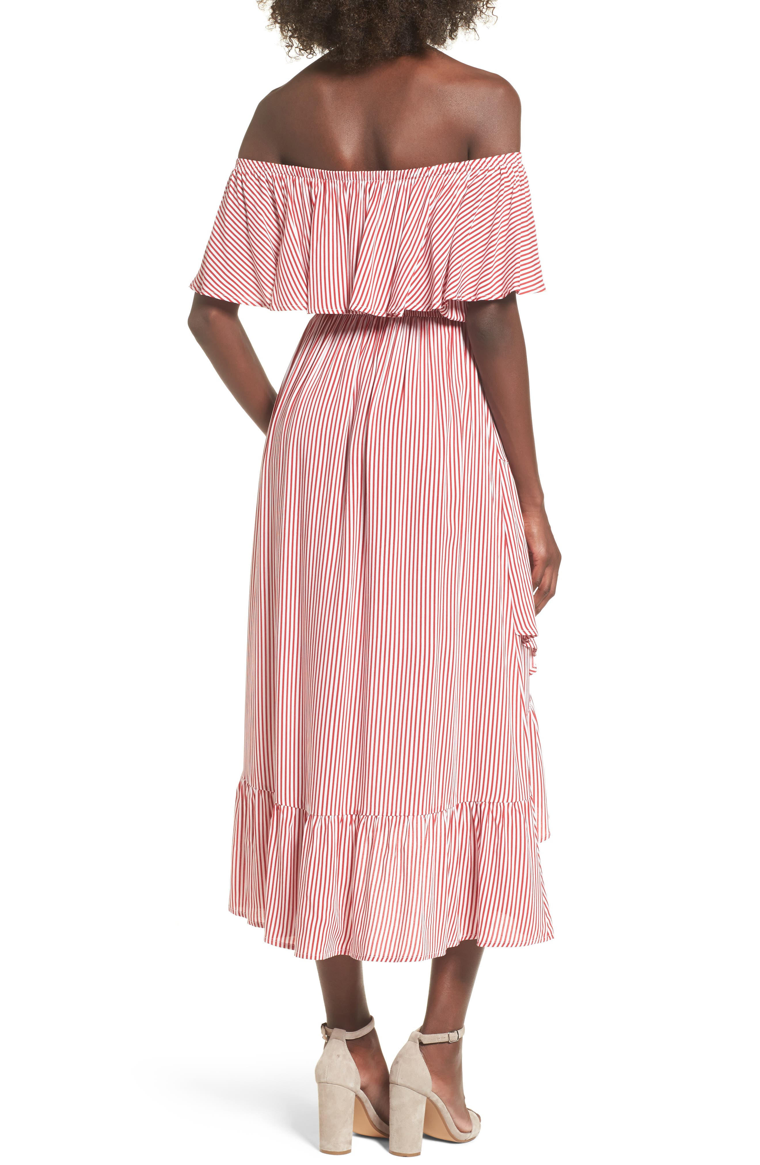 Off the Shoulder High/Low Dress,                             Alternate thumbnail 2, color,                             600