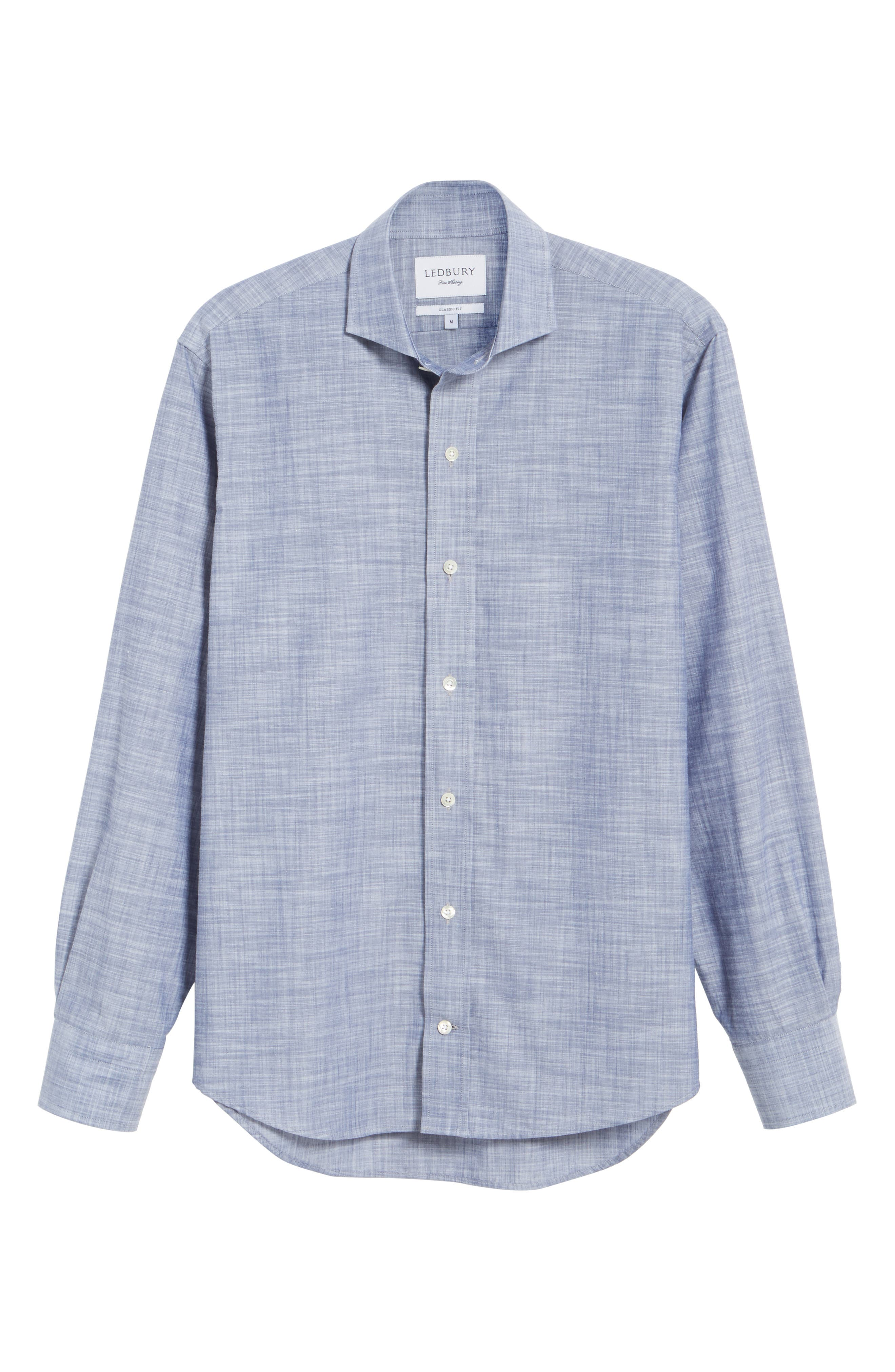 The McDaniel Classic Fit Chambray Sport Shirt,                             Alternate thumbnail 11, color,