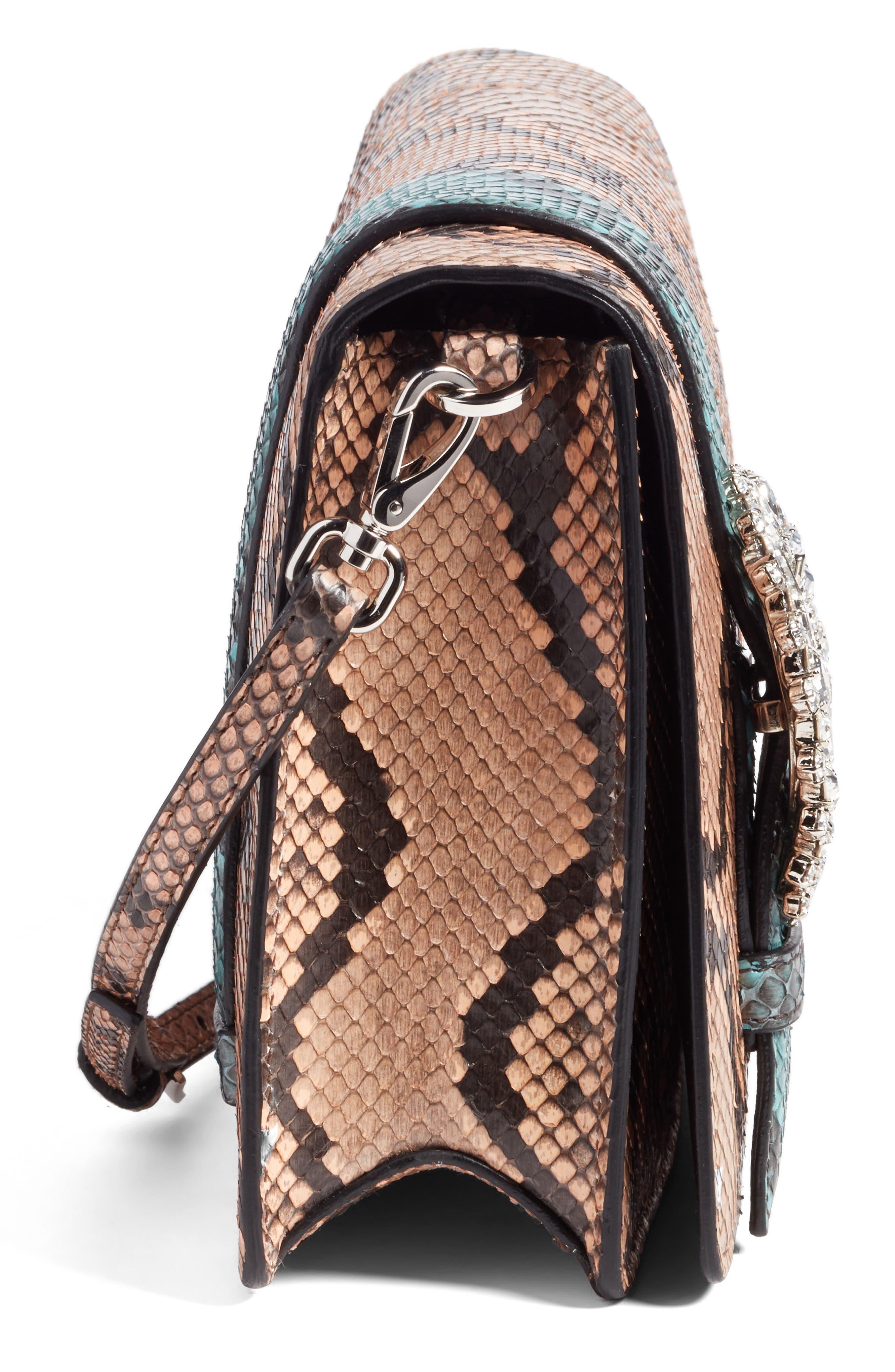 Genuine Python Shoulder Bag,                             Alternate thumbnail 10, color,