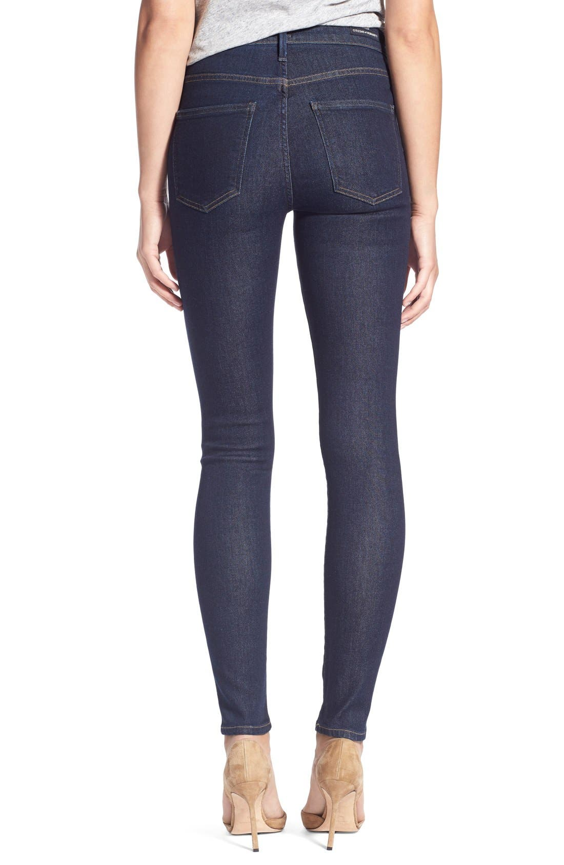 'Sculpt - Rocket' High Rise Skinny Jeans,                             Alternate thumbnail 4, color,                             406