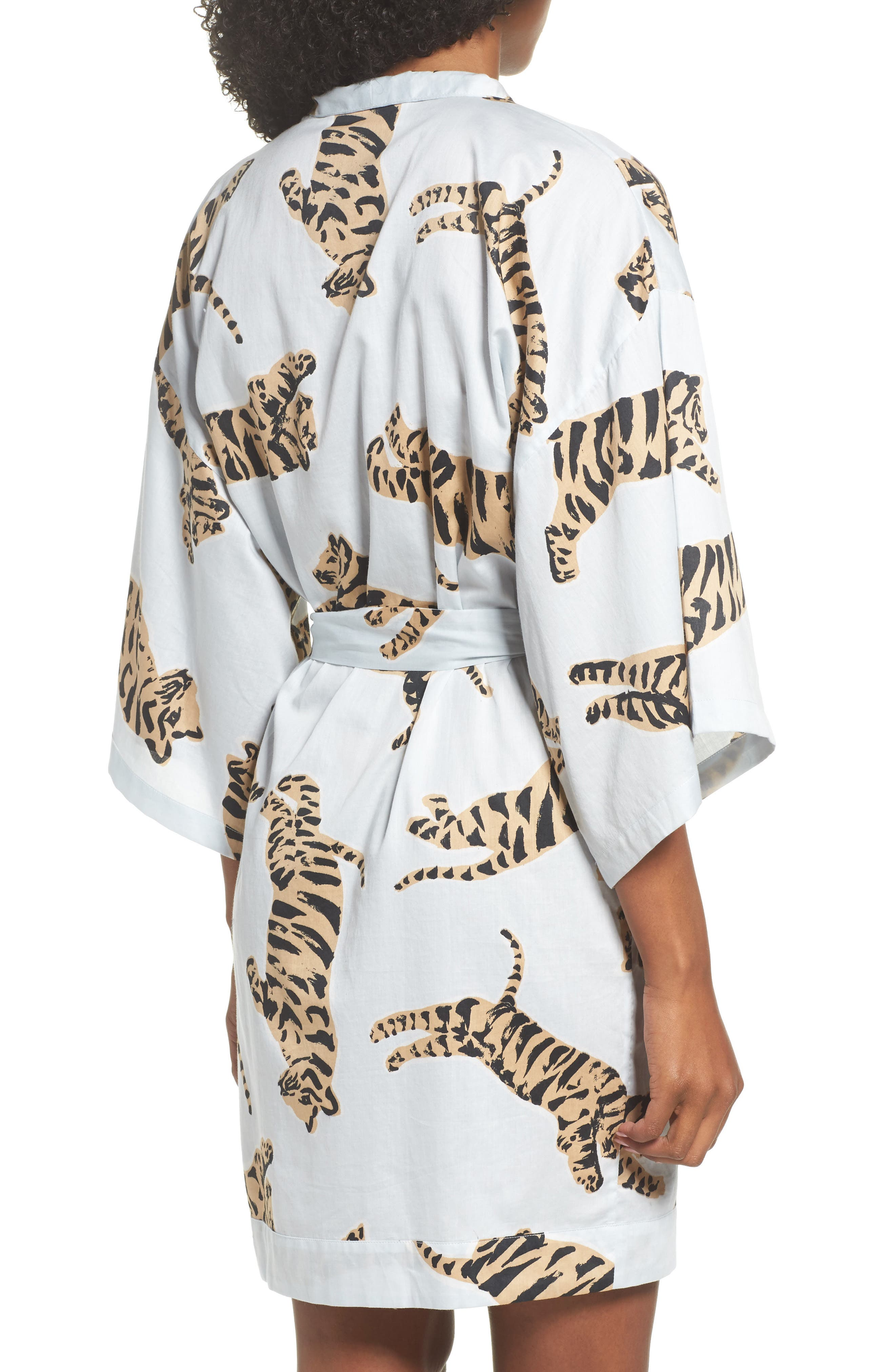 Margaux Short Cotton Robe,                             Alternate thumbnail 2, color,