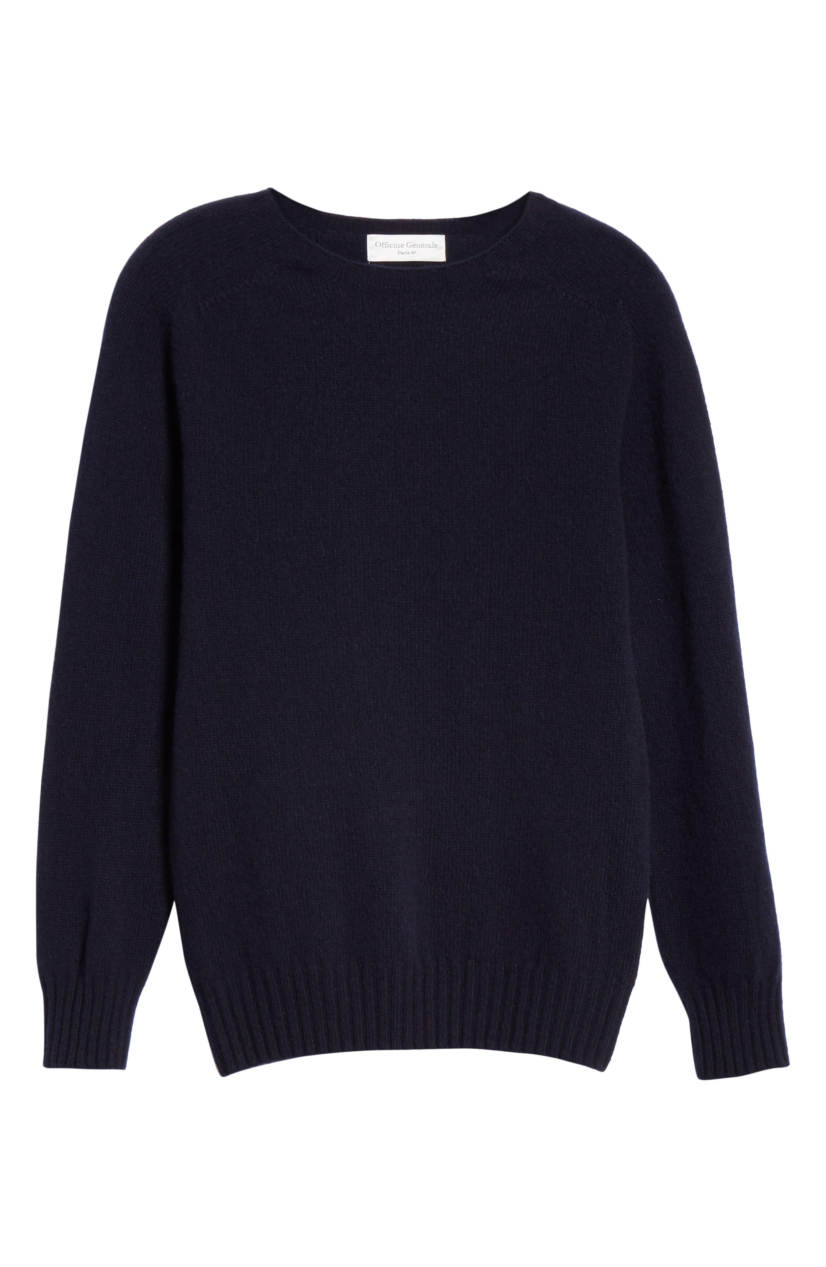 Officine Générale Wool Crewneck Sweater,                             Alternate thumbnail 6, color,                             410