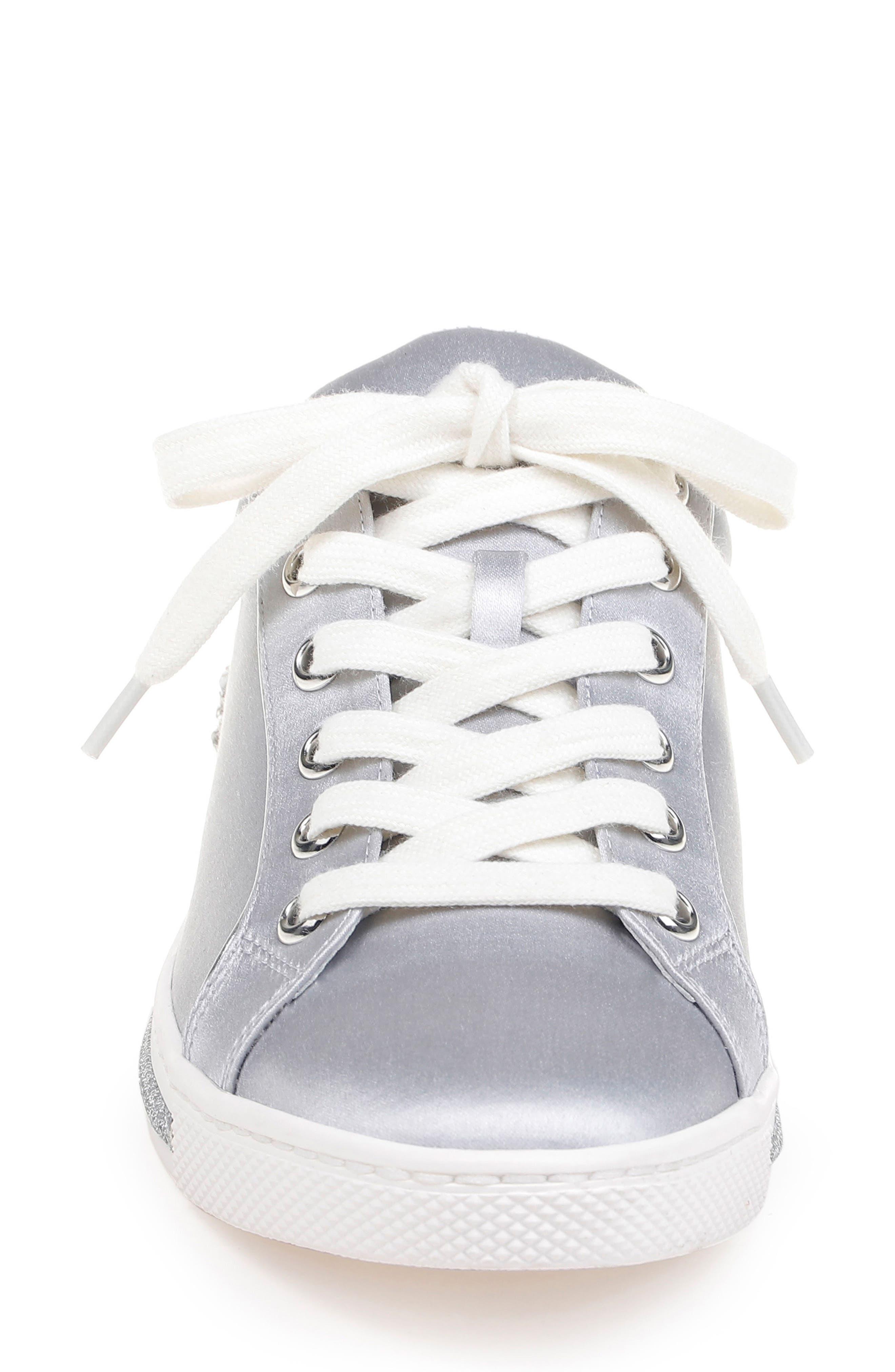 Badgley Mischka Shirley Crystal Embellished Sneaker,                             Alternate thumbnail 4, color,                             045