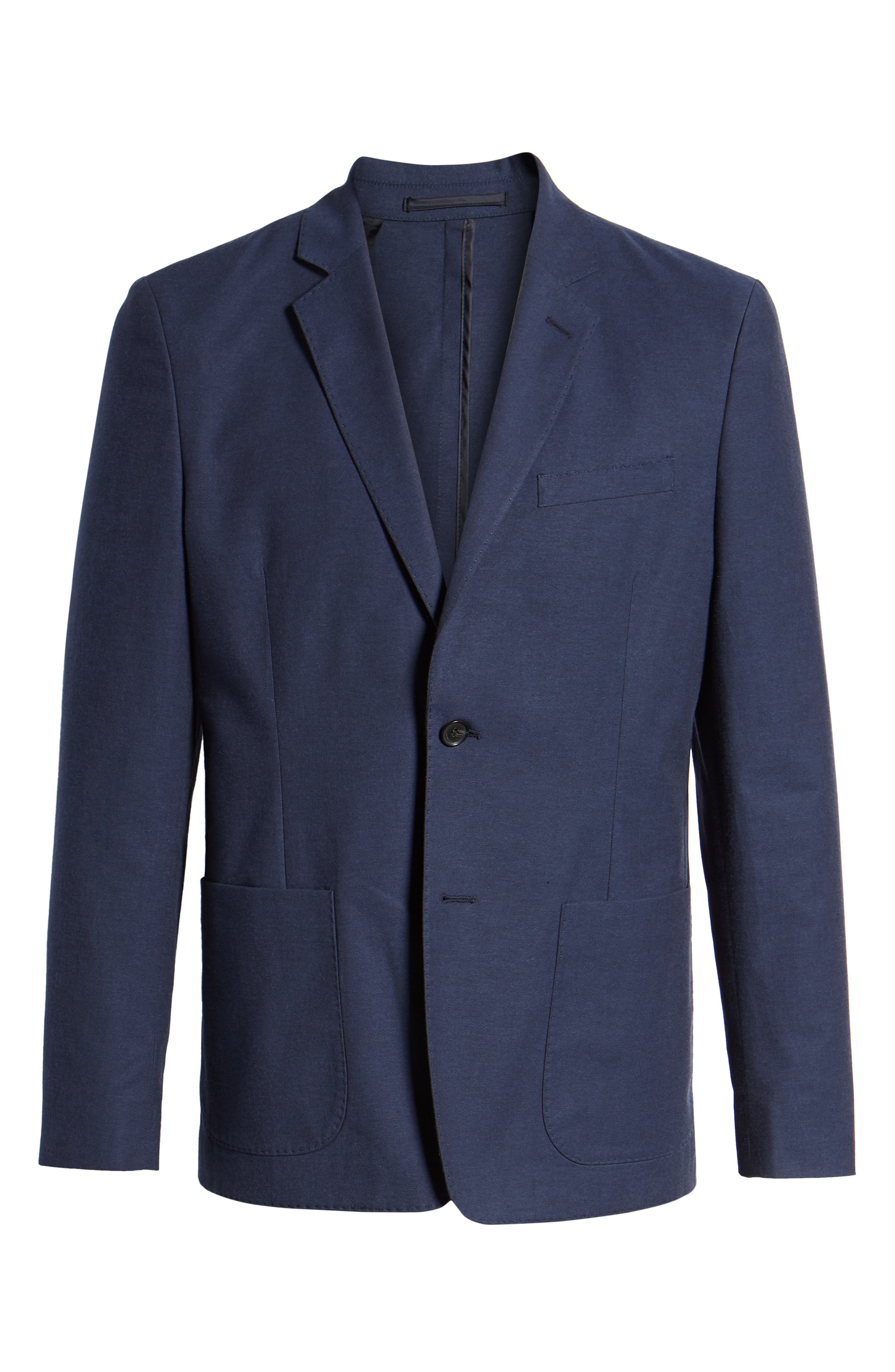 Washed Stretch Cotton Blazer,                             Alternate thumbnail 5, color,                             410