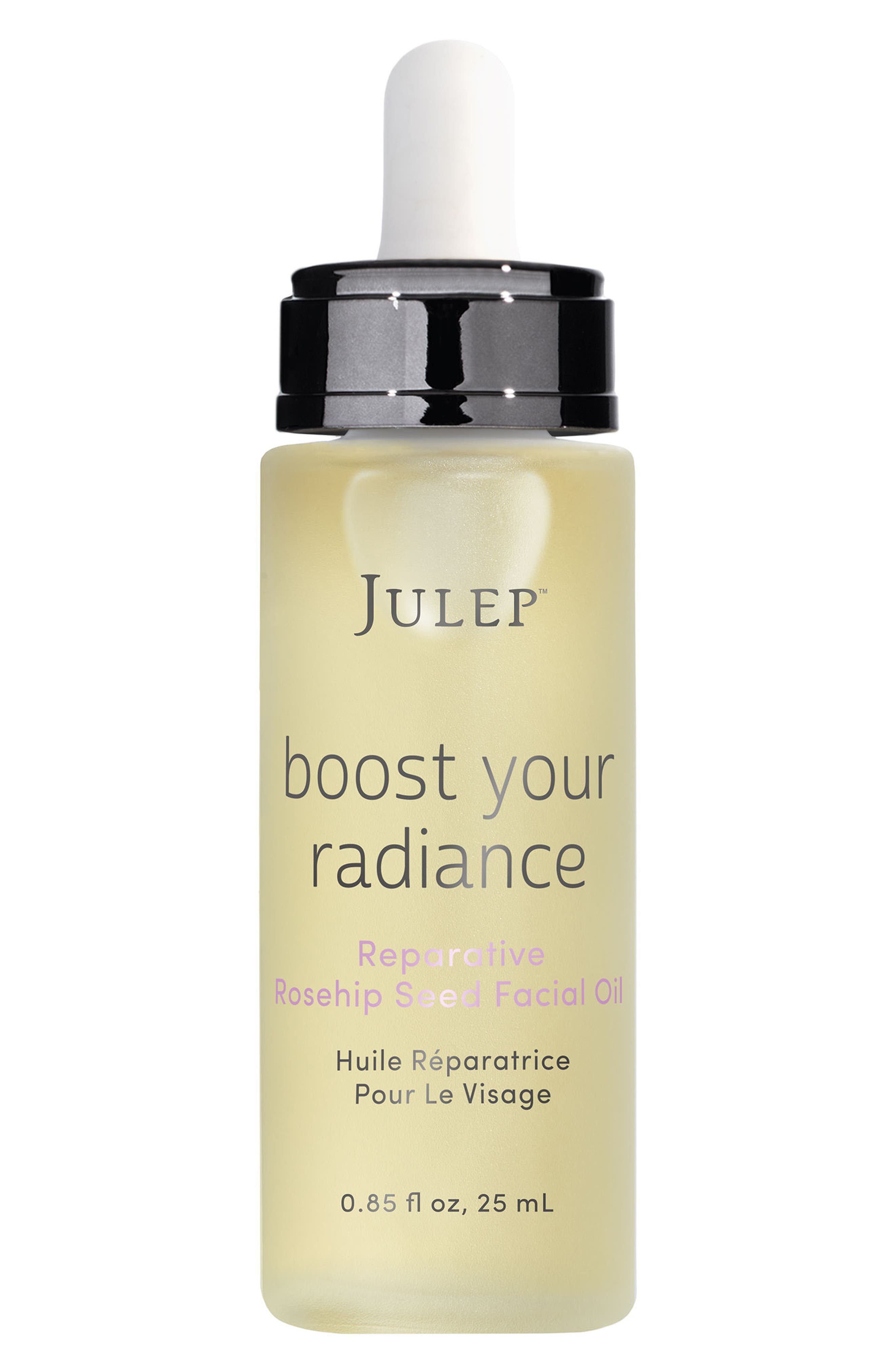 JULEP BEAUTY,                             Julep<sup>™</sup> Boost Your Radiance Reparative Rosehip Seed Facial Oil,                             Main thumbnail 1, color,                             000