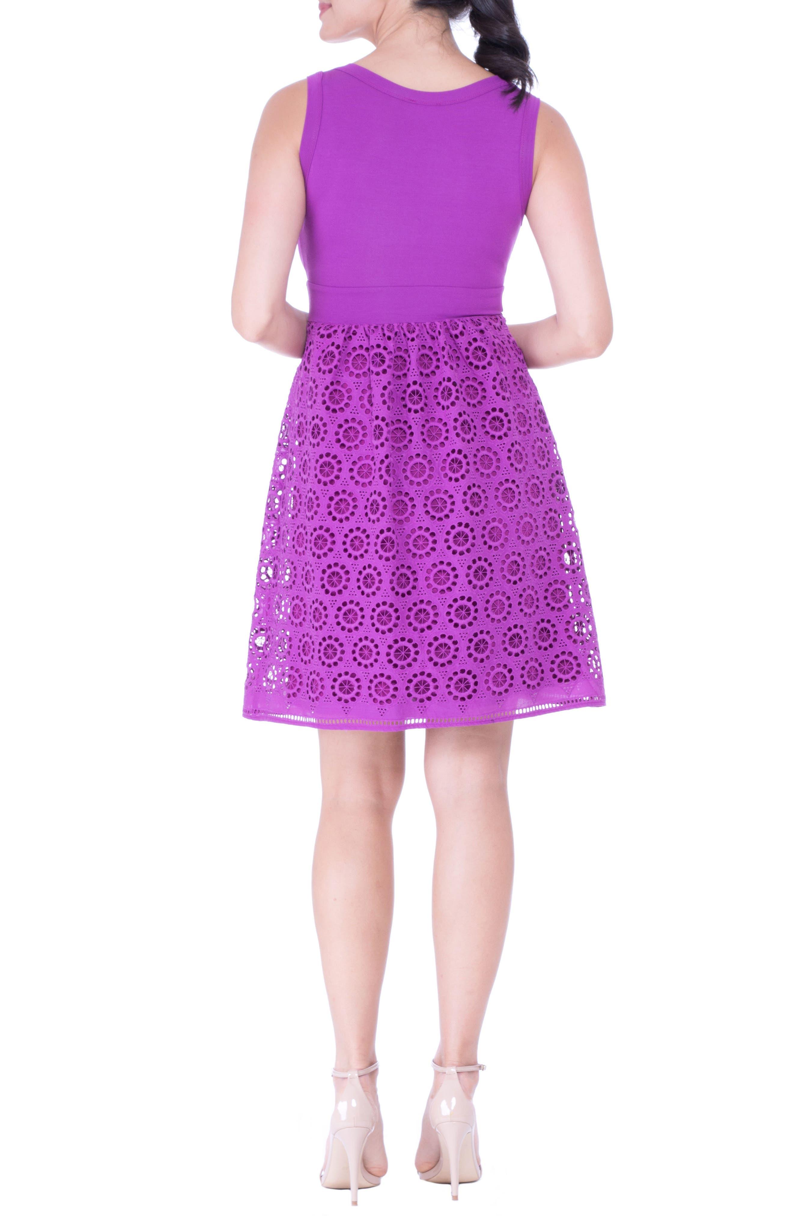 Crochet Maternity Dress,                             Alternate thumbnail 2, color,                             ORCHID