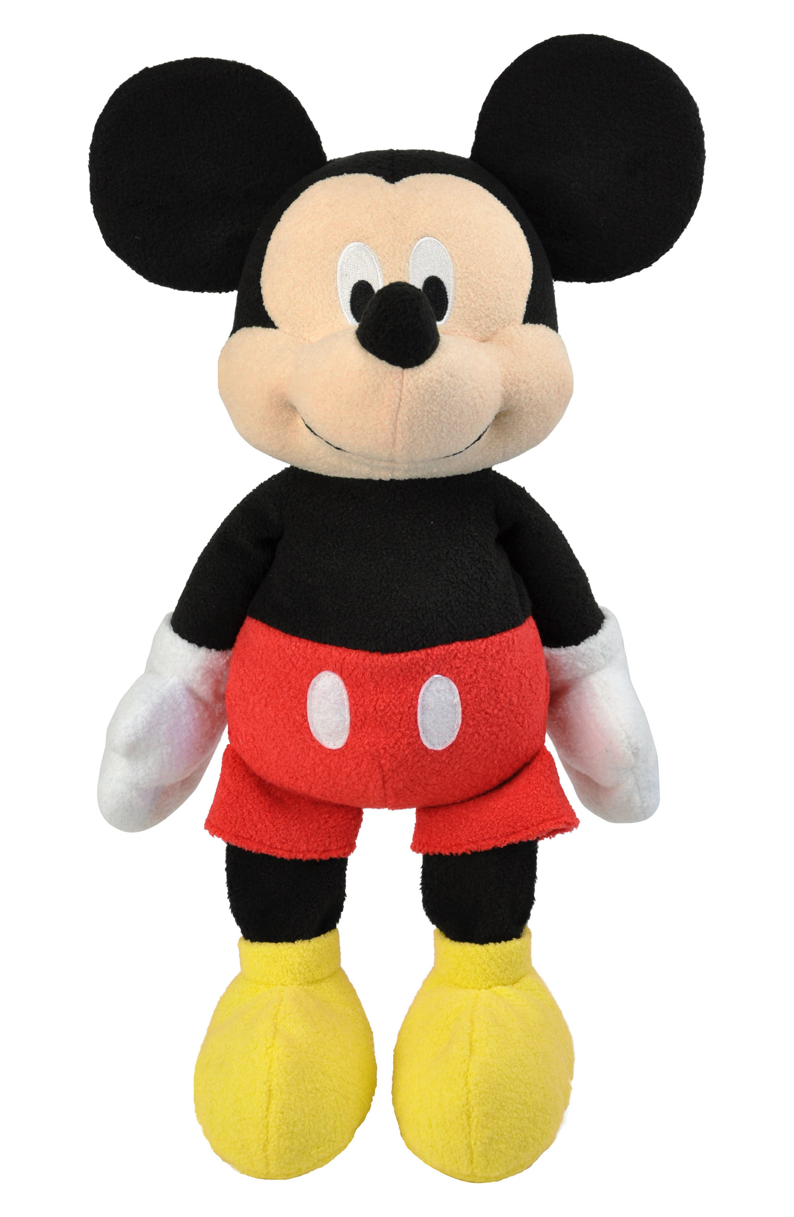 Mickey Mouse Floppy Plush Toy, Main, color, MULTICOLOR