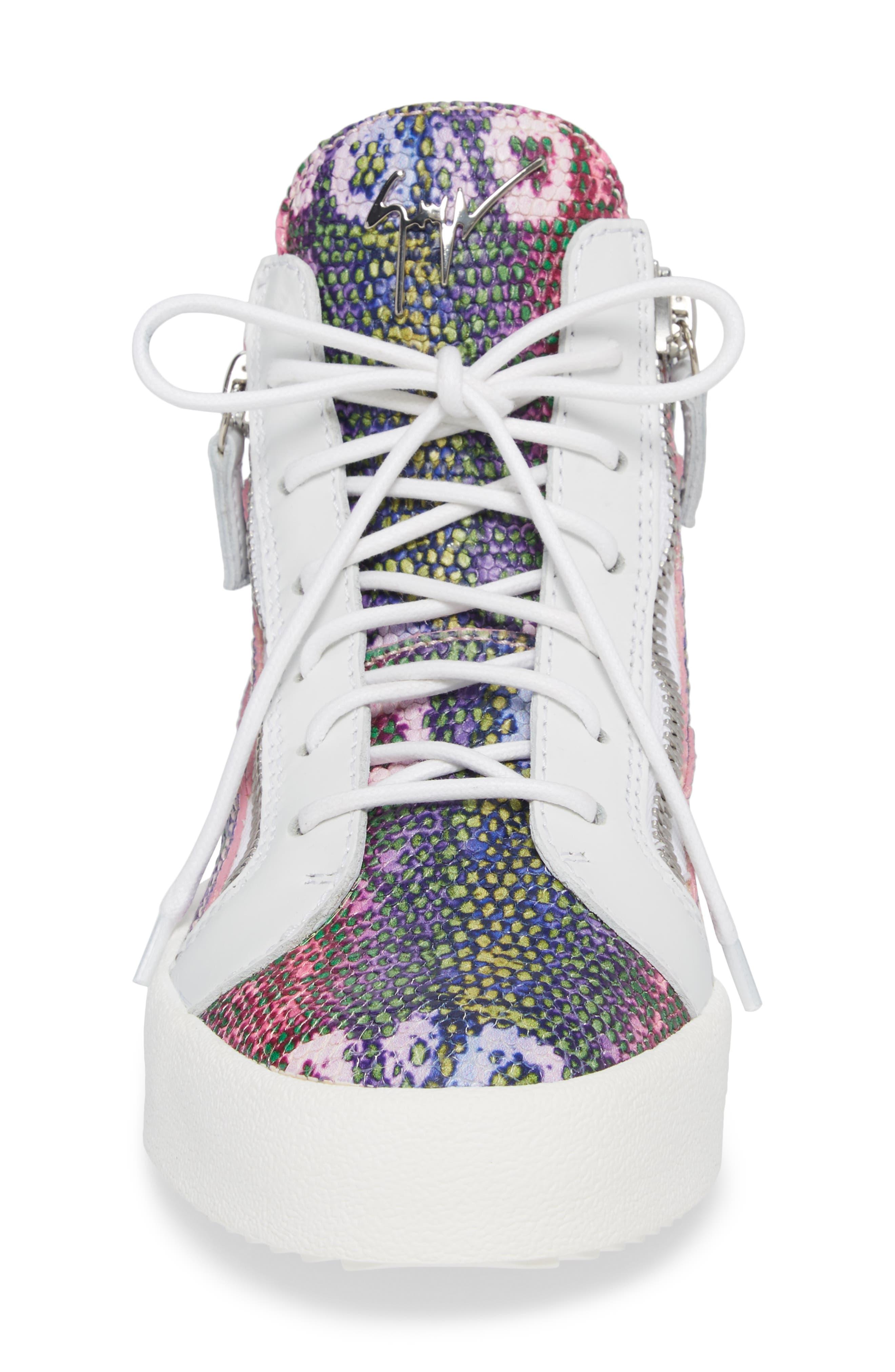 May London Mid Top Sneaker,                             Alternate thumbnail 4, color,                             PINK MULTI