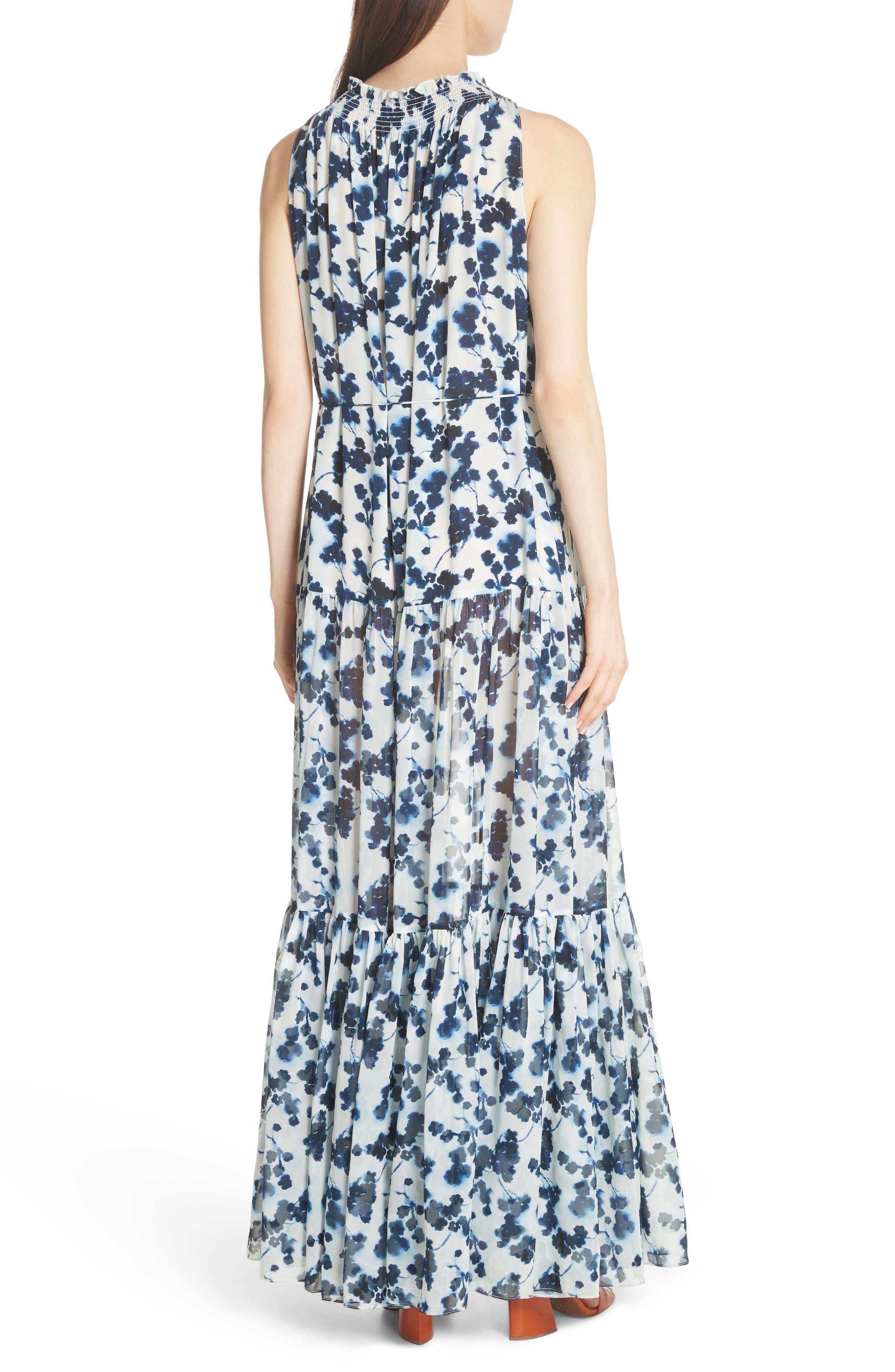 Lani P Floral Print Silk Dress,                             Alternate thumbnail 2, color,                             426