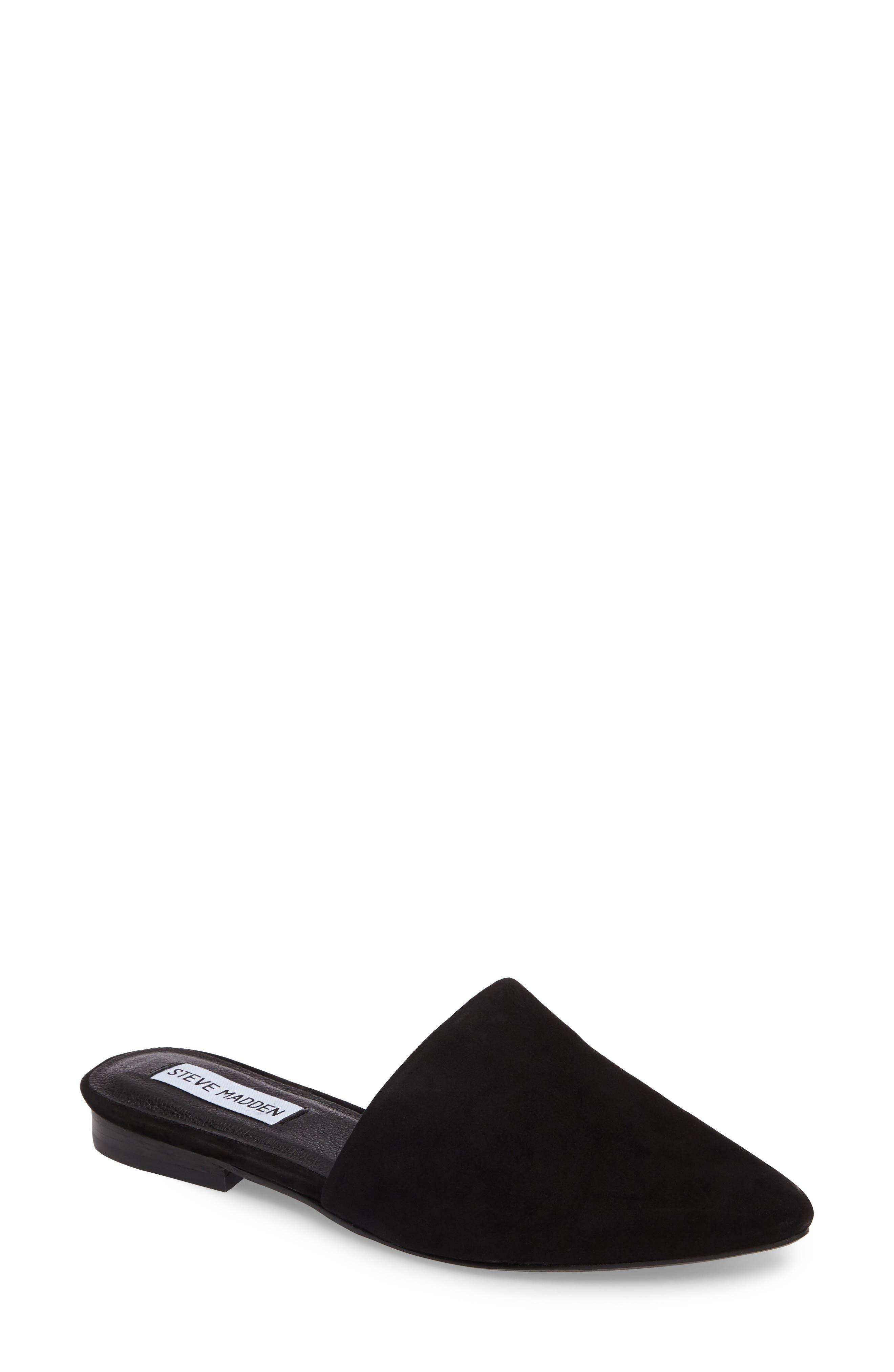 Trace Mule,                         Main,                         color, BLACK SUEDE