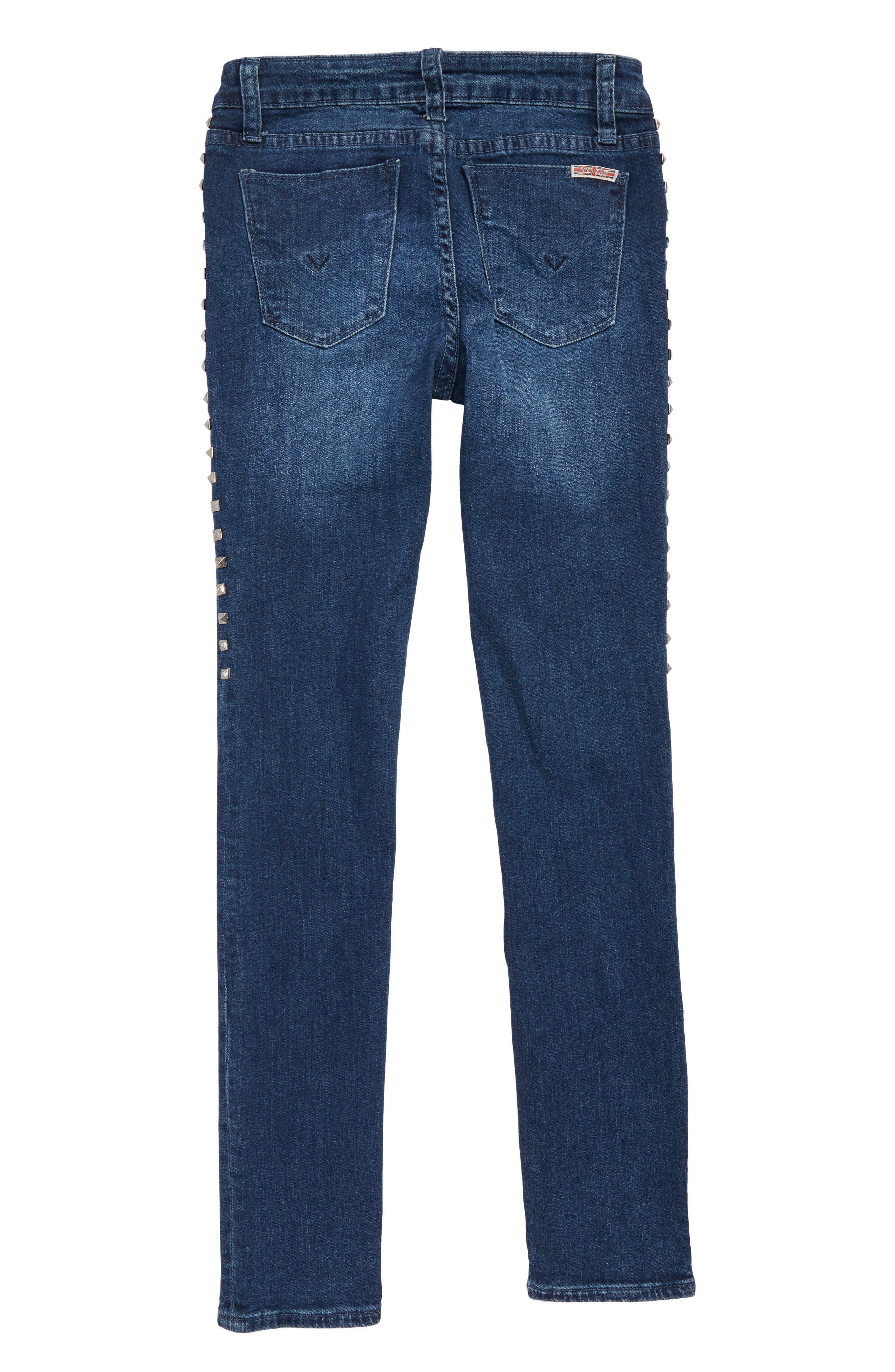 Studded Skinny Jeans,                             Alternate thumbnail 2, color,                             400