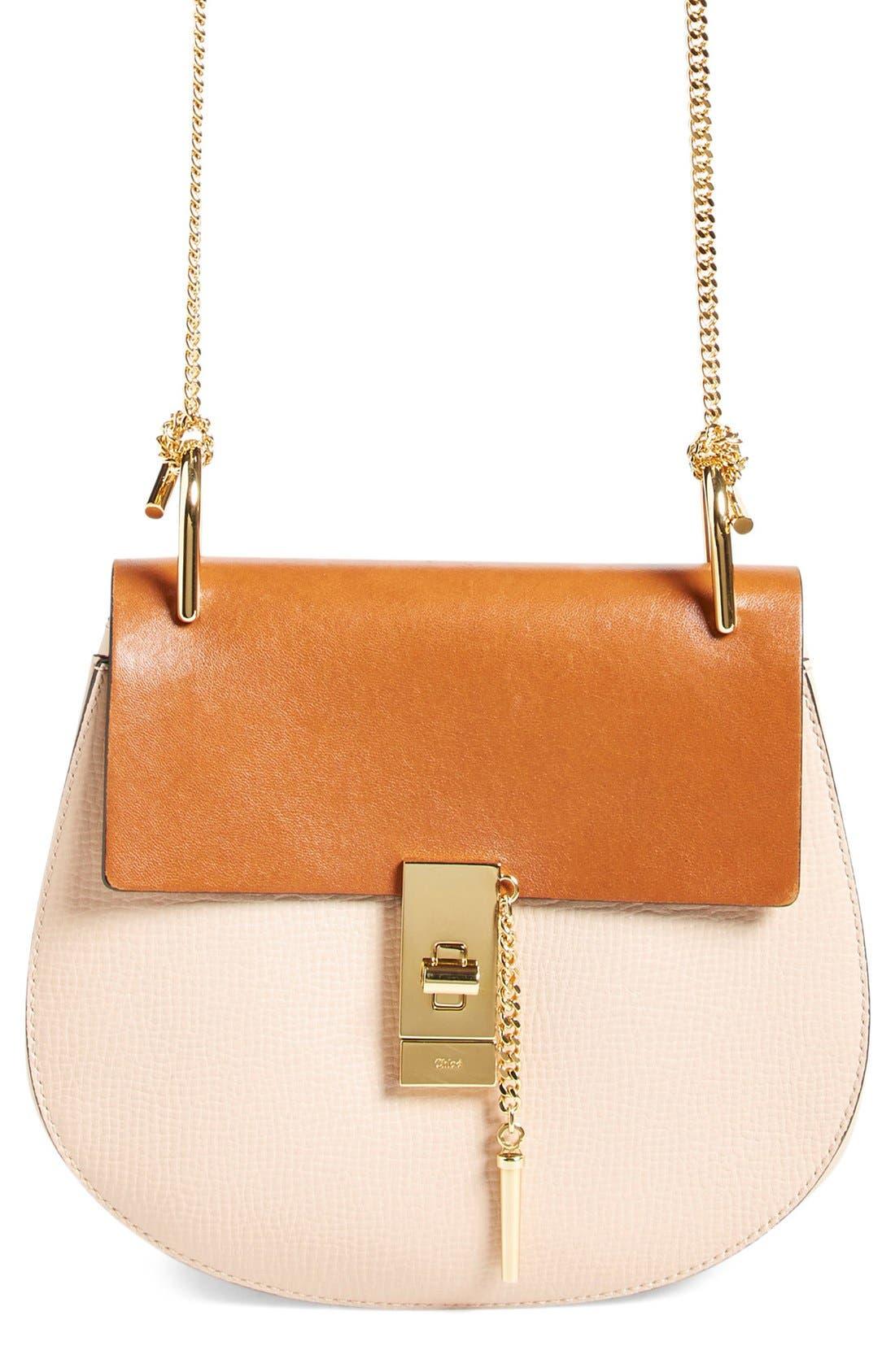 'Small Drew' Leather Shoulder Bag,                         Main,                         color, 250