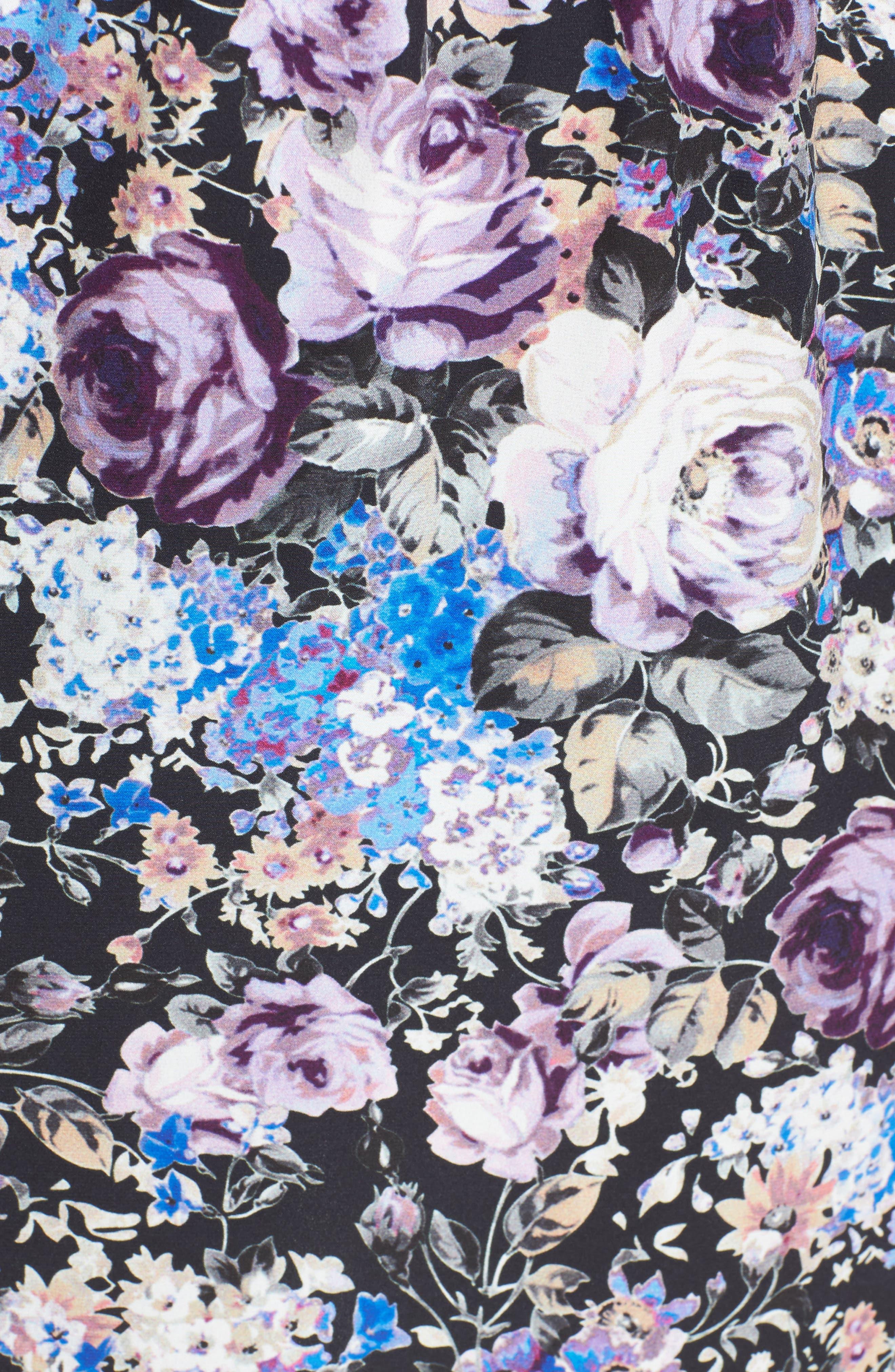 Noemi Cold Shoulder Silk Dress,                             Alternate thumbnail 5, color,                             500