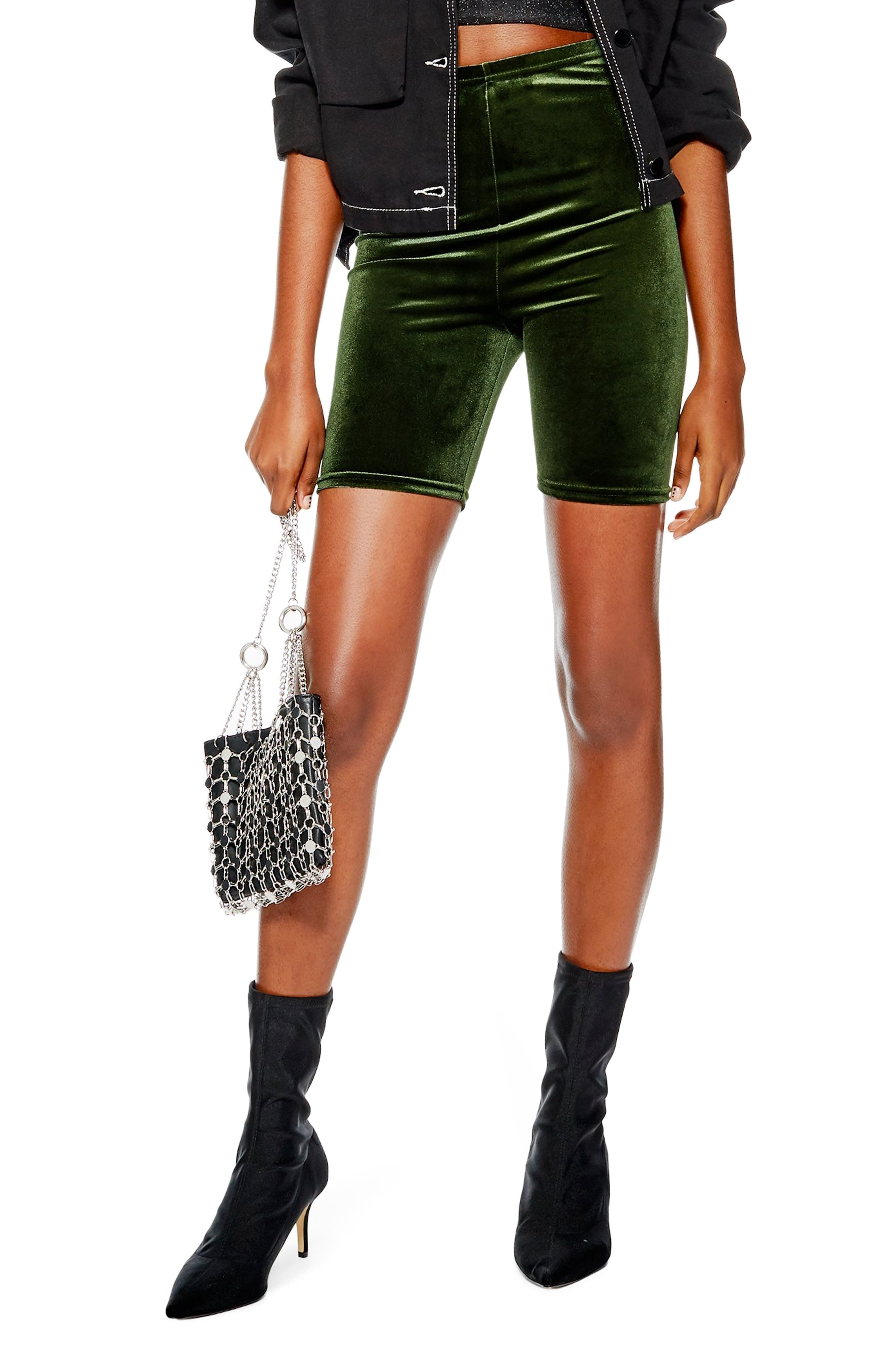 Velvet Cycling Shorts,                         Main,                         color, OLIVE