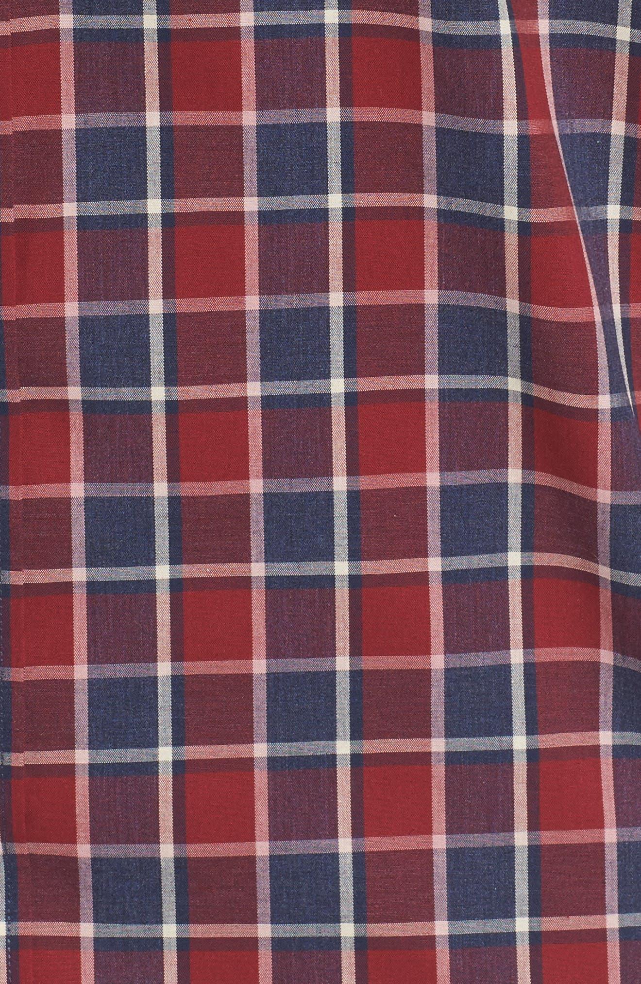 Non-Iron Check Sport Shirt,                             Alternate thumbnail 5, color,                             610