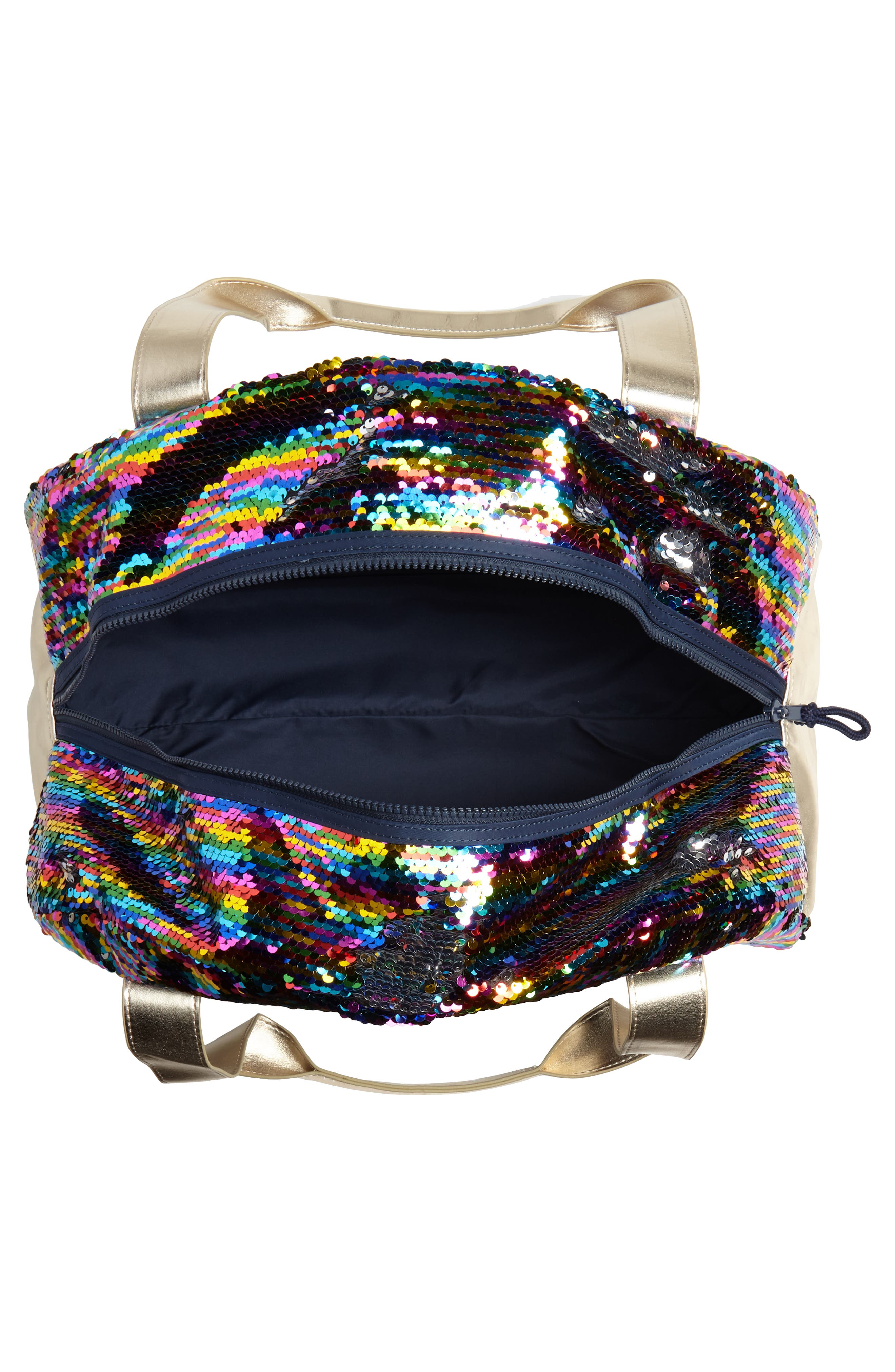 Overnight Bag with Reversible Sequins,                             Alternate thumbnail 3, color,                             964