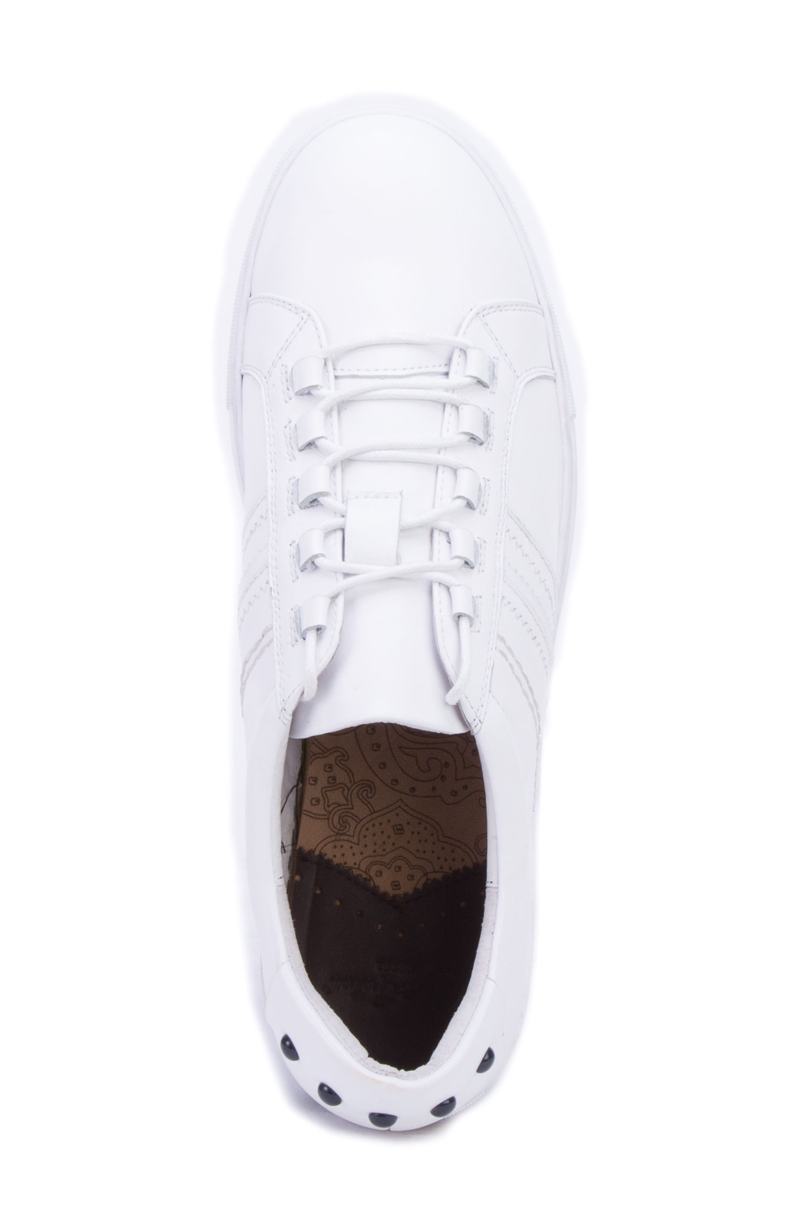 Horton Studded Low Top Sneaker,                             Alternate thumbnail 5, color,                             WHITE LEATHER