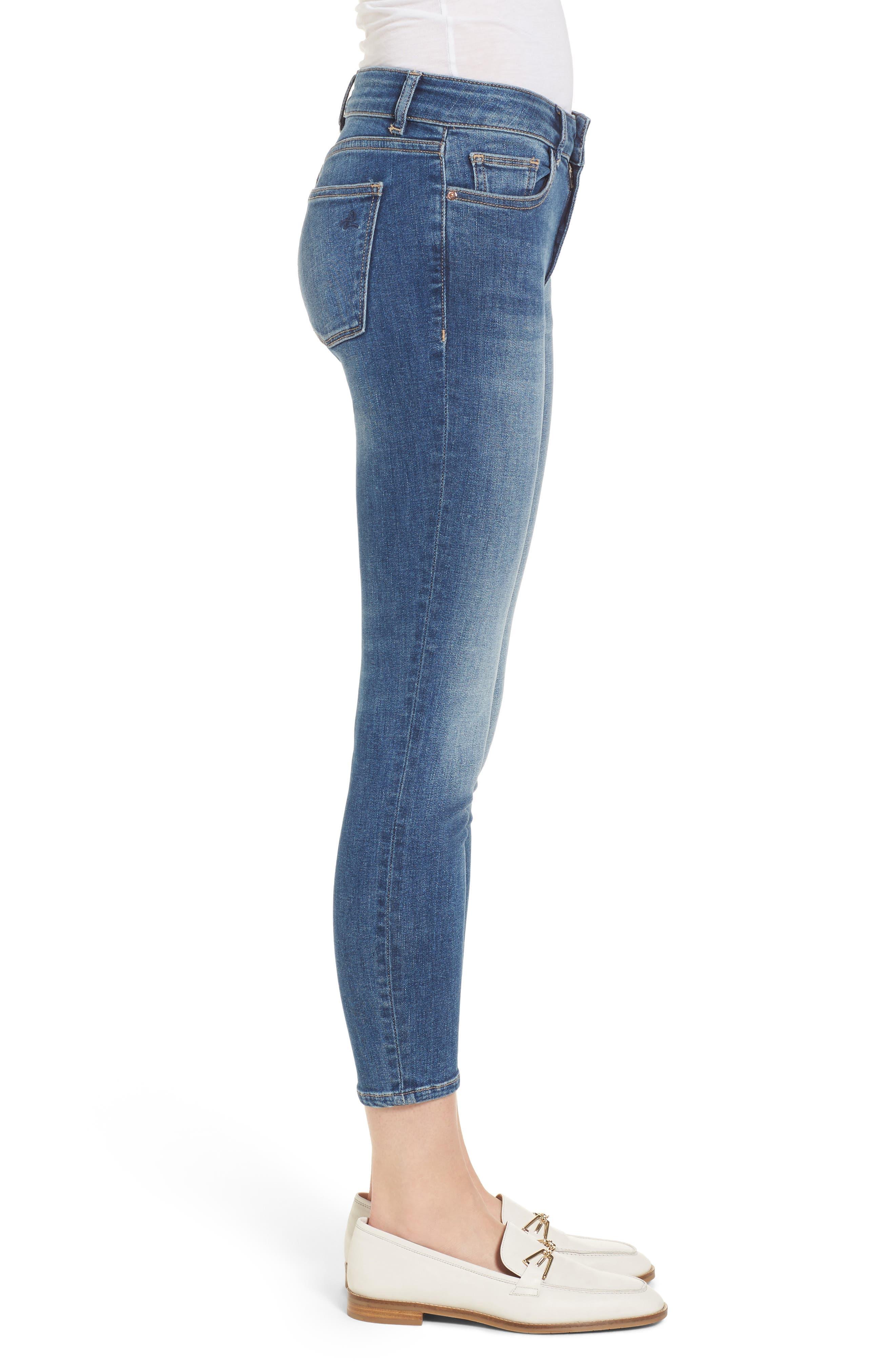 Florence Instasculpt Crop Skinny Jeans,                             Alternate thumbnail 3, color,                             EVERGLADE