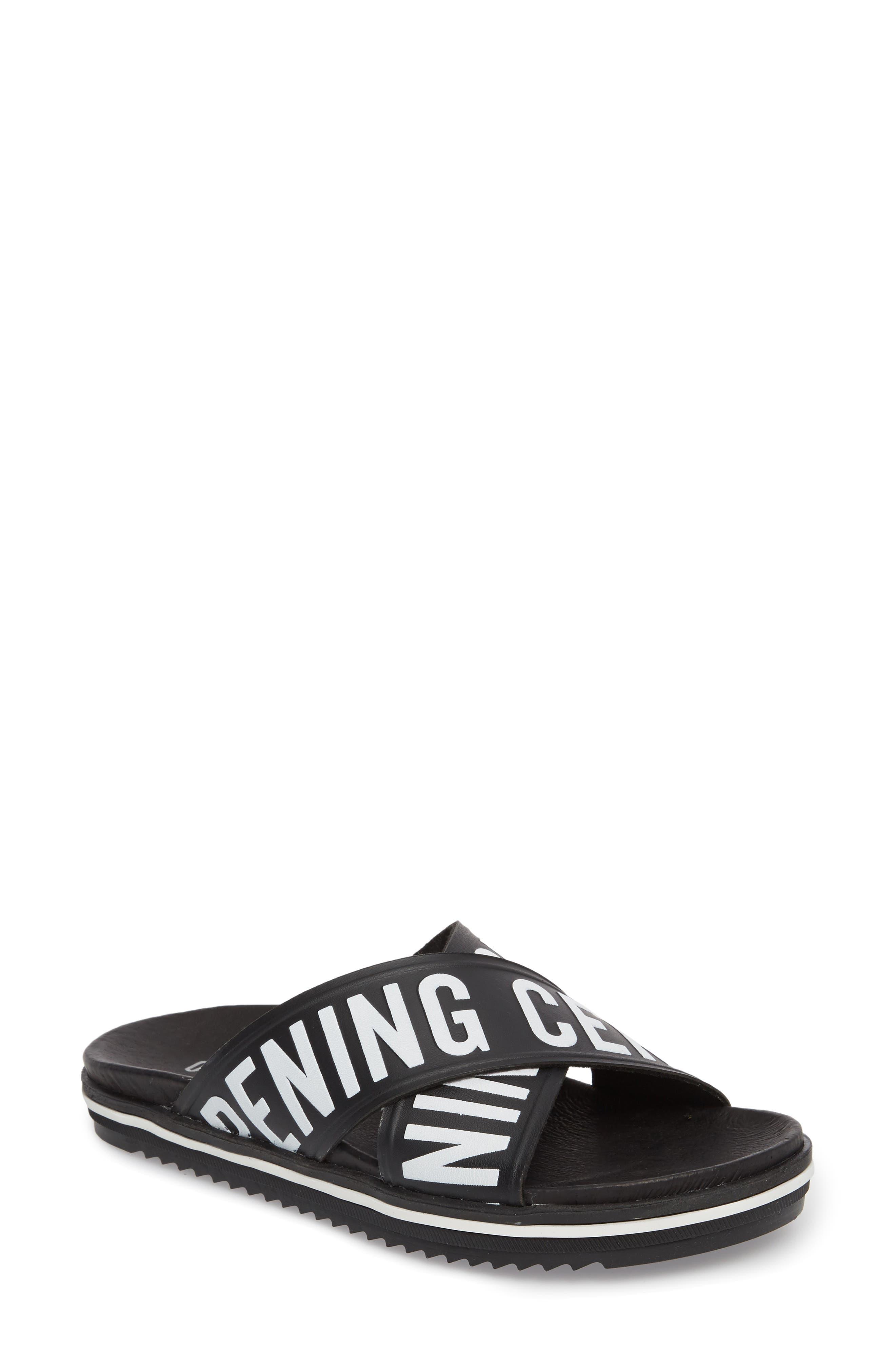 Berkeley Slide Sandal,                             Main thumbnail 1, color,                             BLACK MULTI