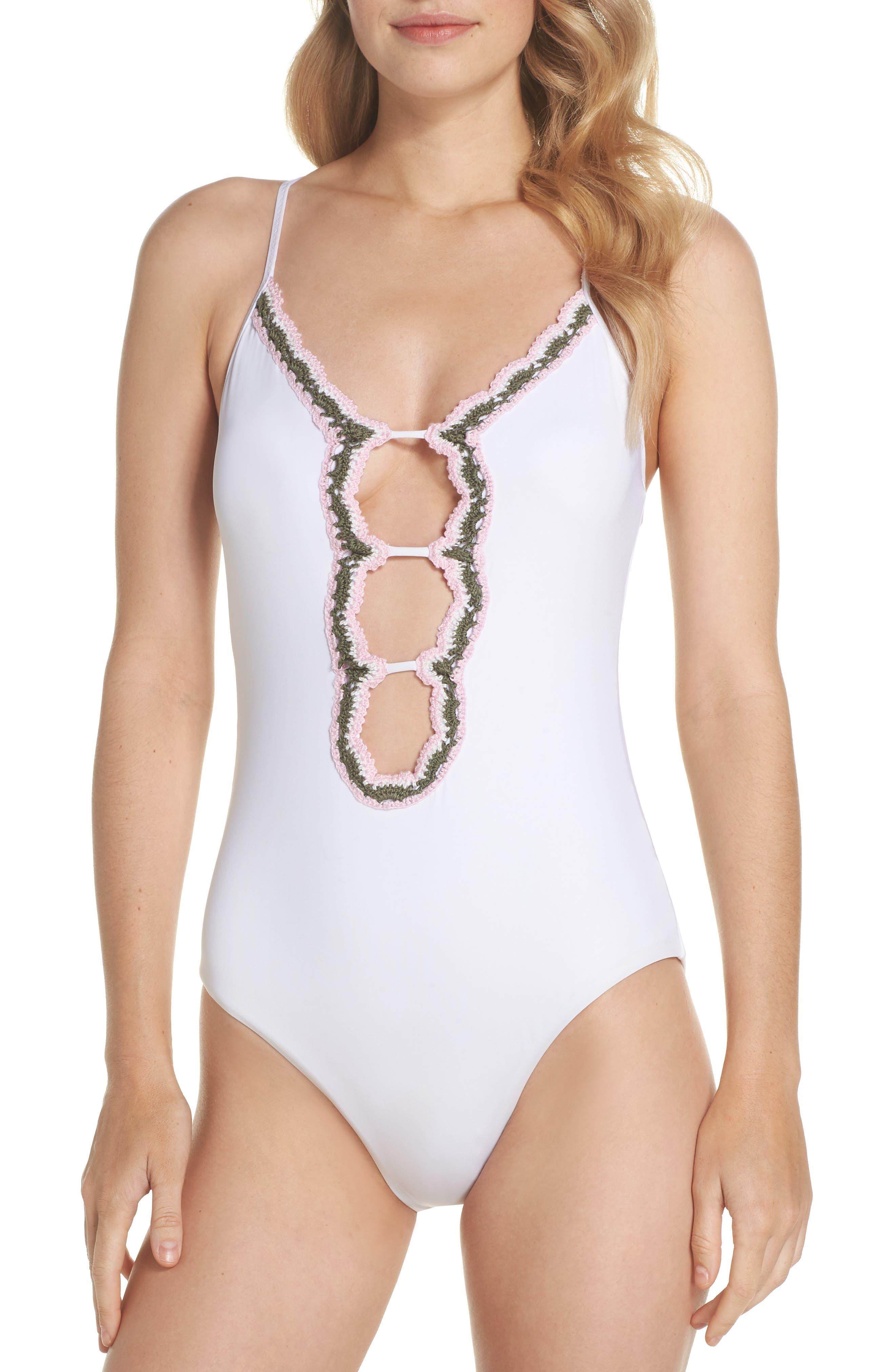 Medina One-Piece Swimsuit,                             Main thumbnail 1, color,                             WHITE