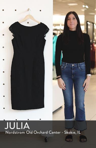 Lace Detail Crepe Sheath Dress, sales video thumbnail