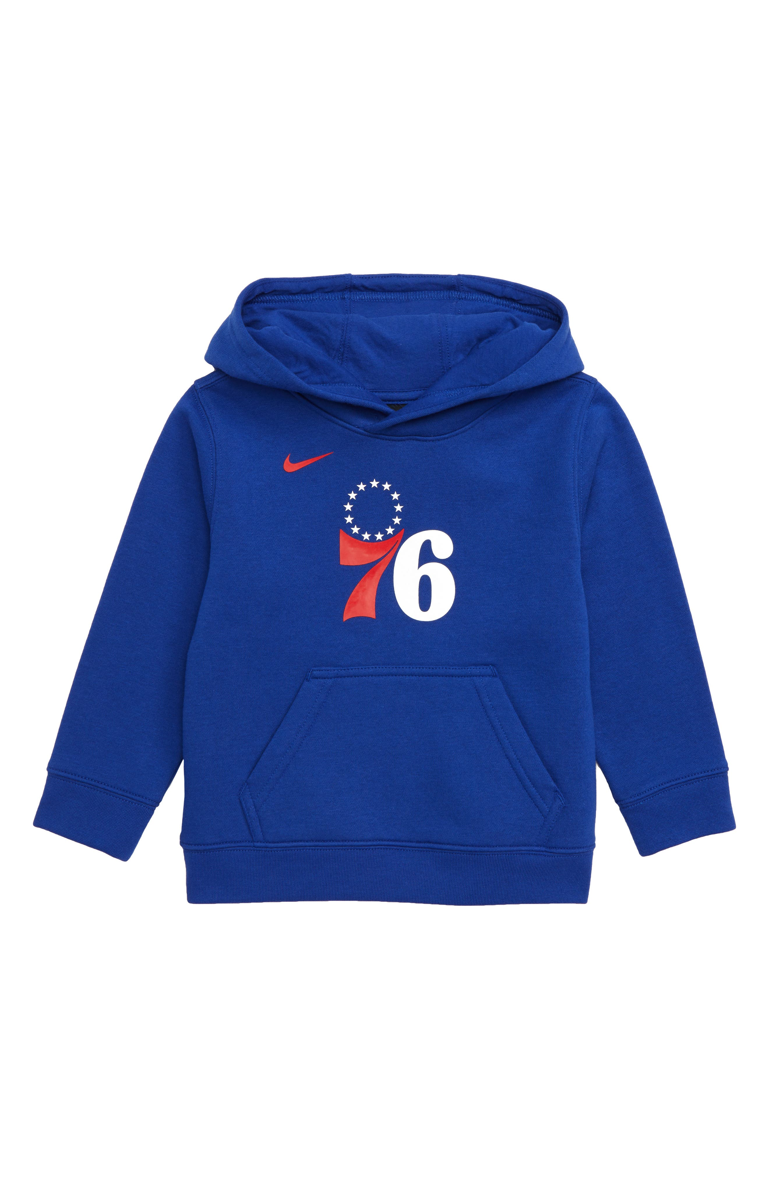 Philadelphia 76ers Hoodie, Main, color, RUSH BLUE