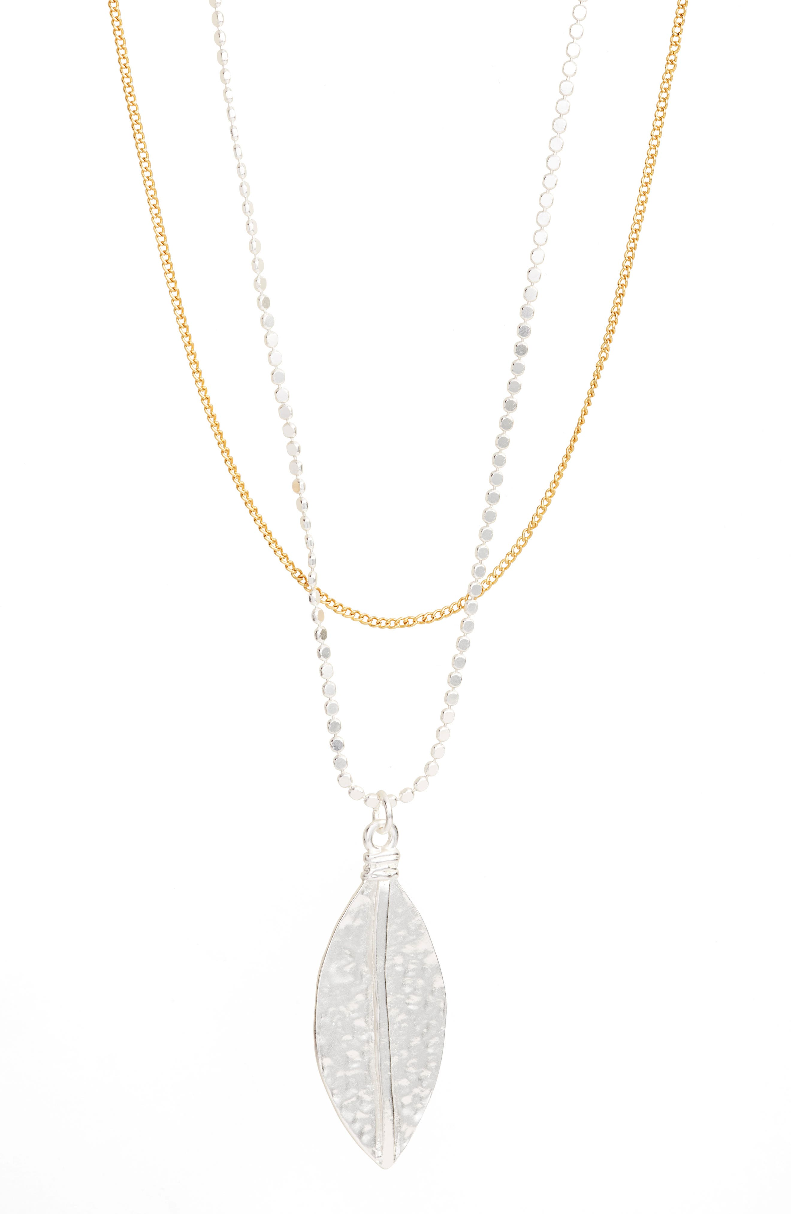 Long Multistrand Necklace,                             Alternate thumbnail 2, color,                             SILVER/GOLD MIX