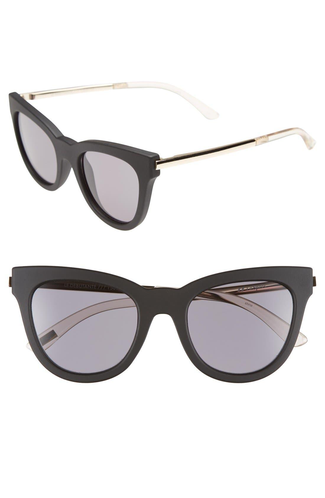 'Le Debutante' 51mm Cat Eye Sunglasses,                             Main thumbnail 1, color,                             001