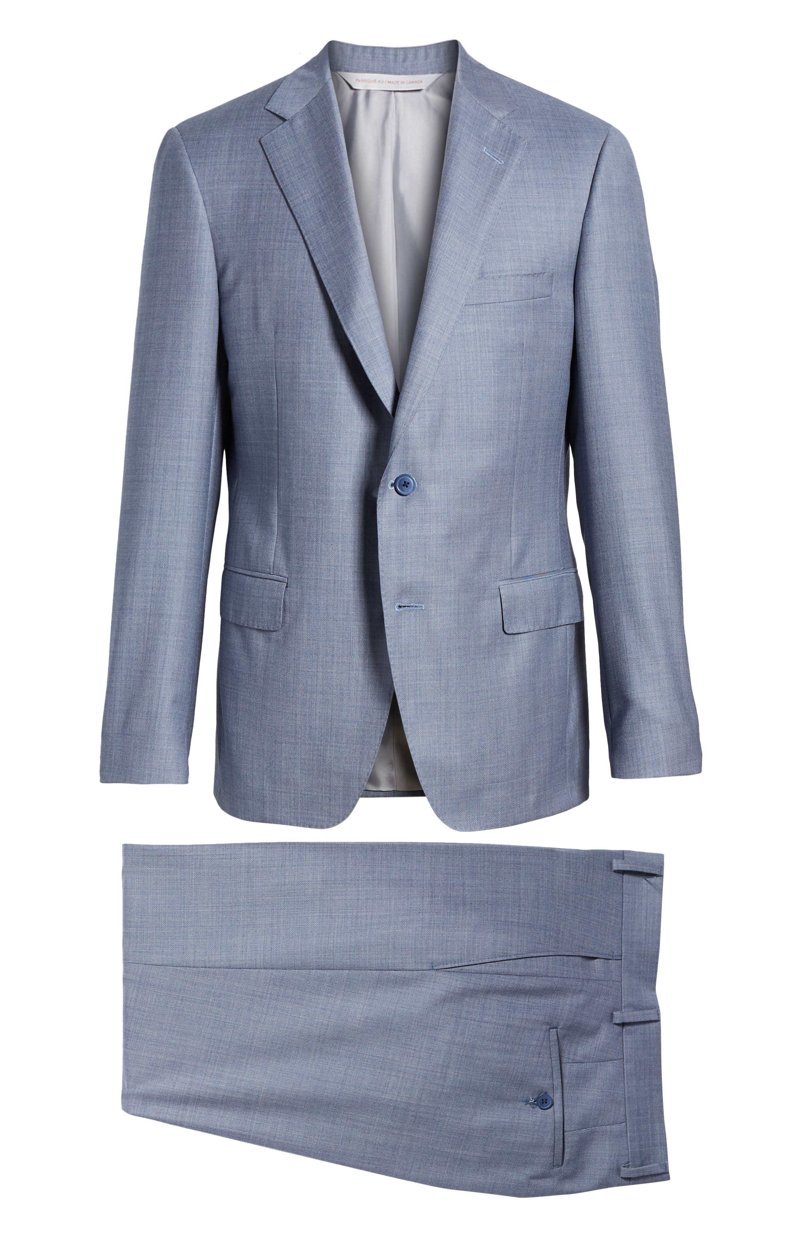 Classic Fit Solid Wool Suit,                             Alternate thumbnail 8, color,                             450