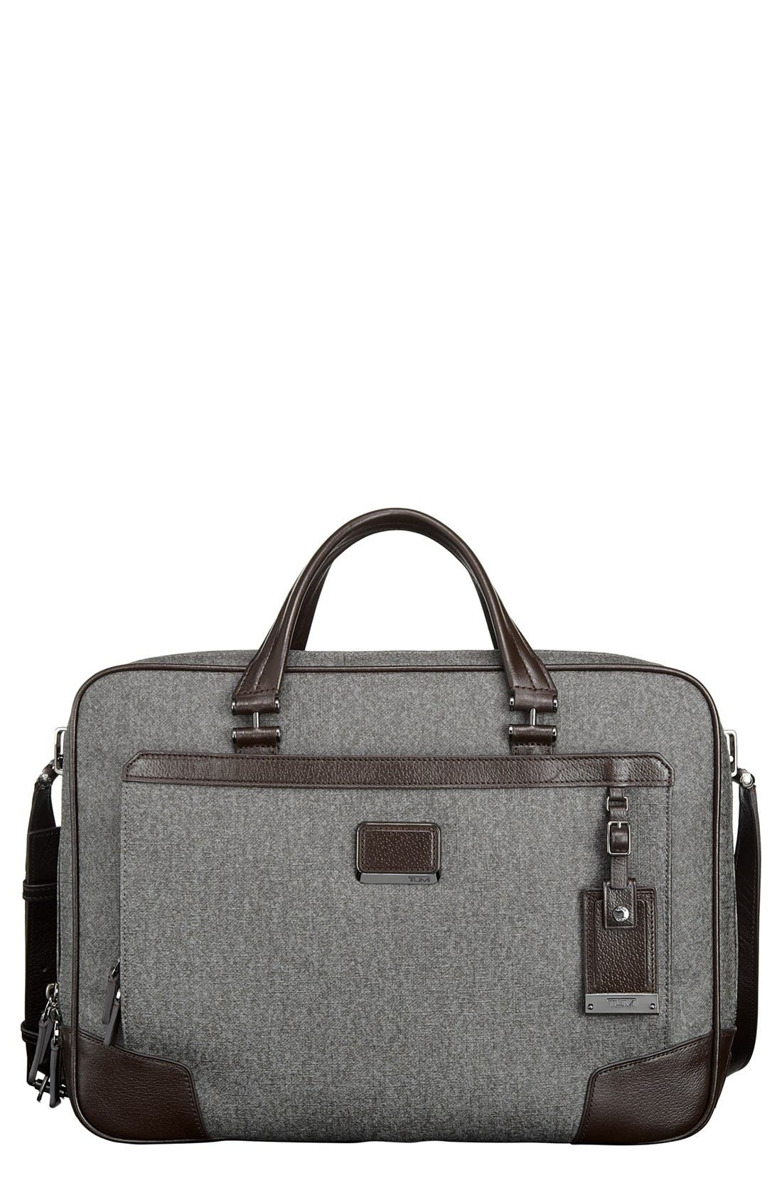 'Astor Ansonia' Zip Top Coated Canvas Laptop Briefcase,                             Main thumbnail 1, color,                             068