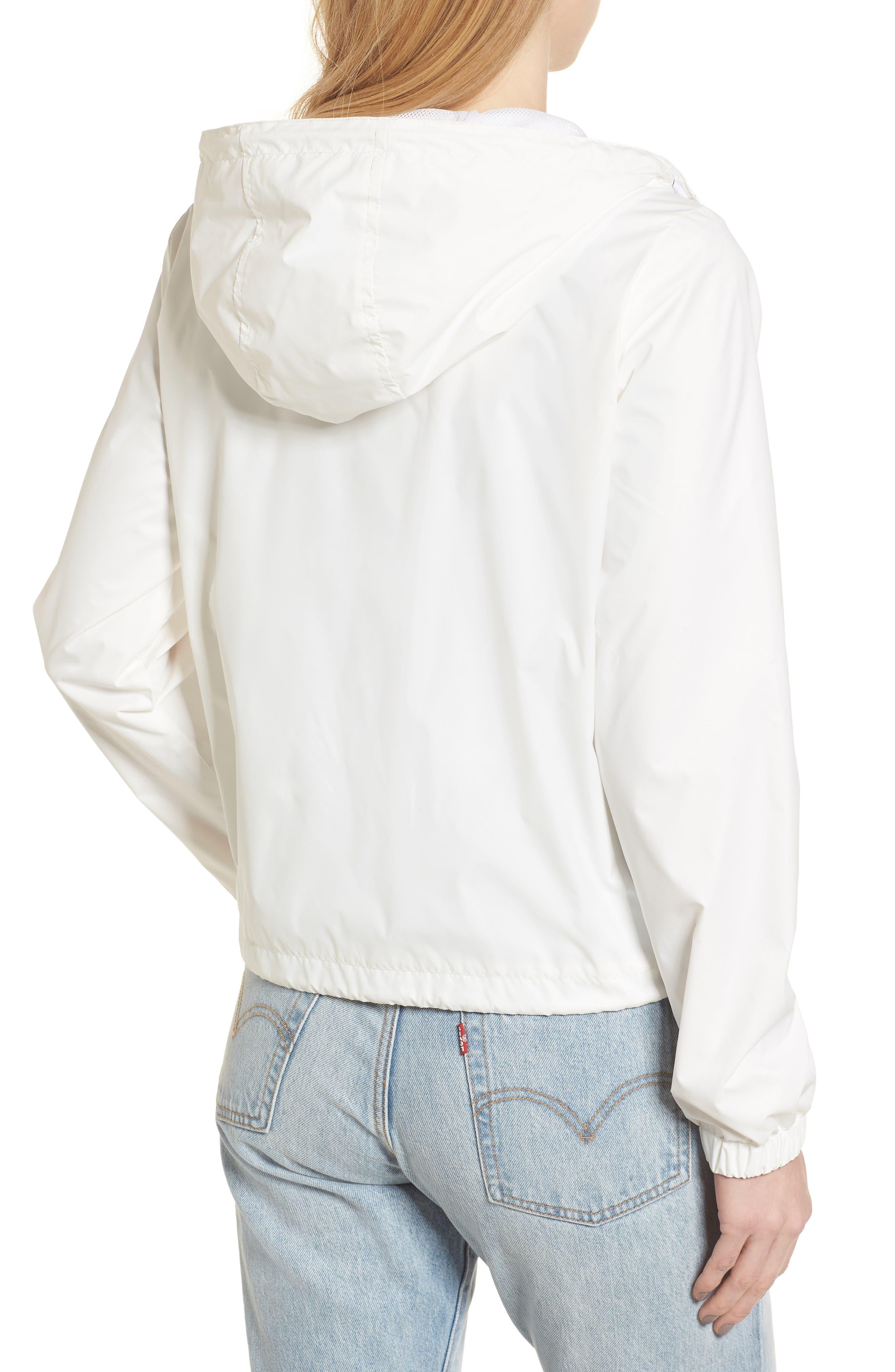 Retro Hooded Coach's Jacket,                             Alternate thumbnail 2, color,                             100