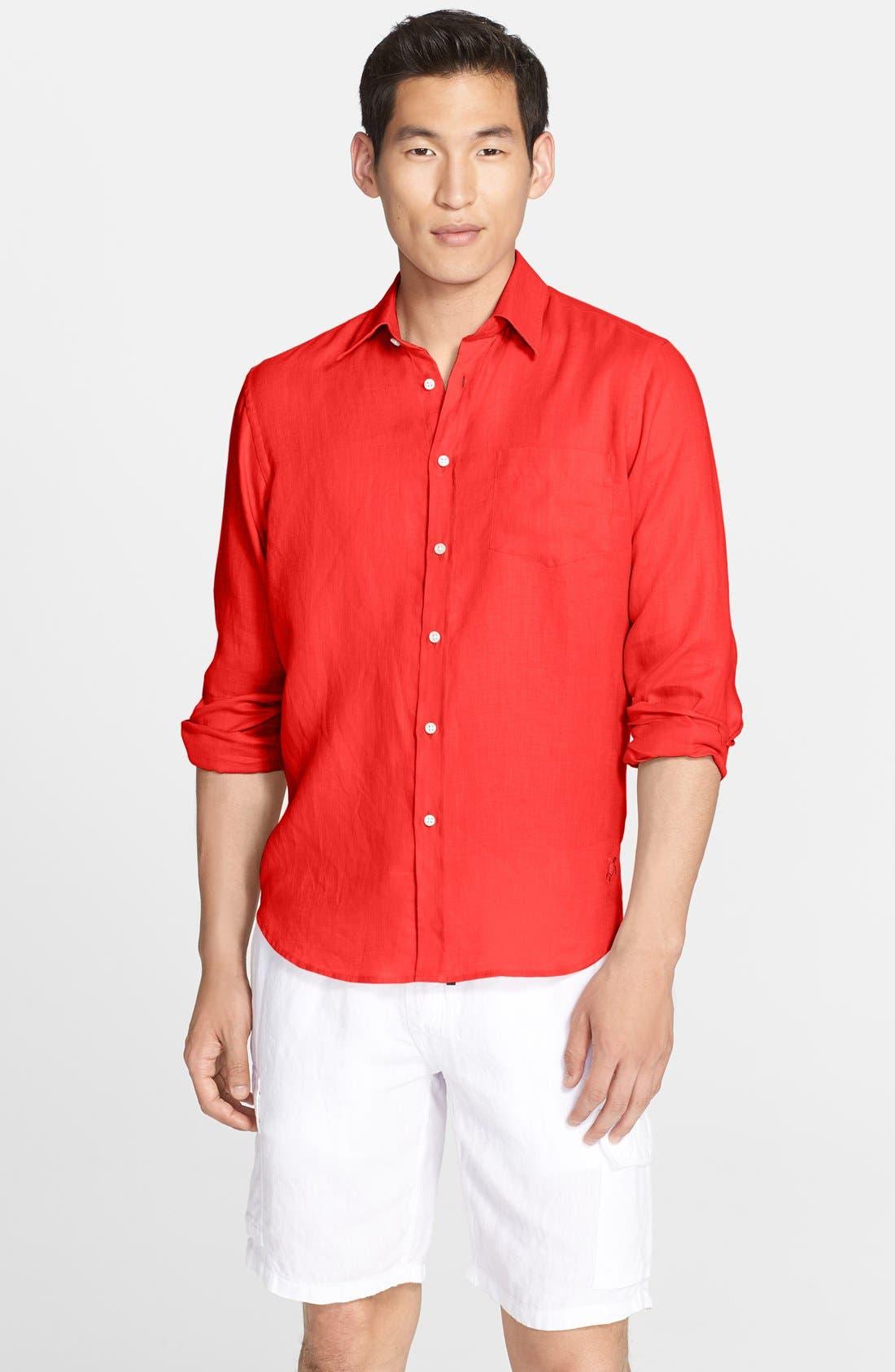 'Caroubier' Linen Shirt,                             Main thumbnail 13, color,