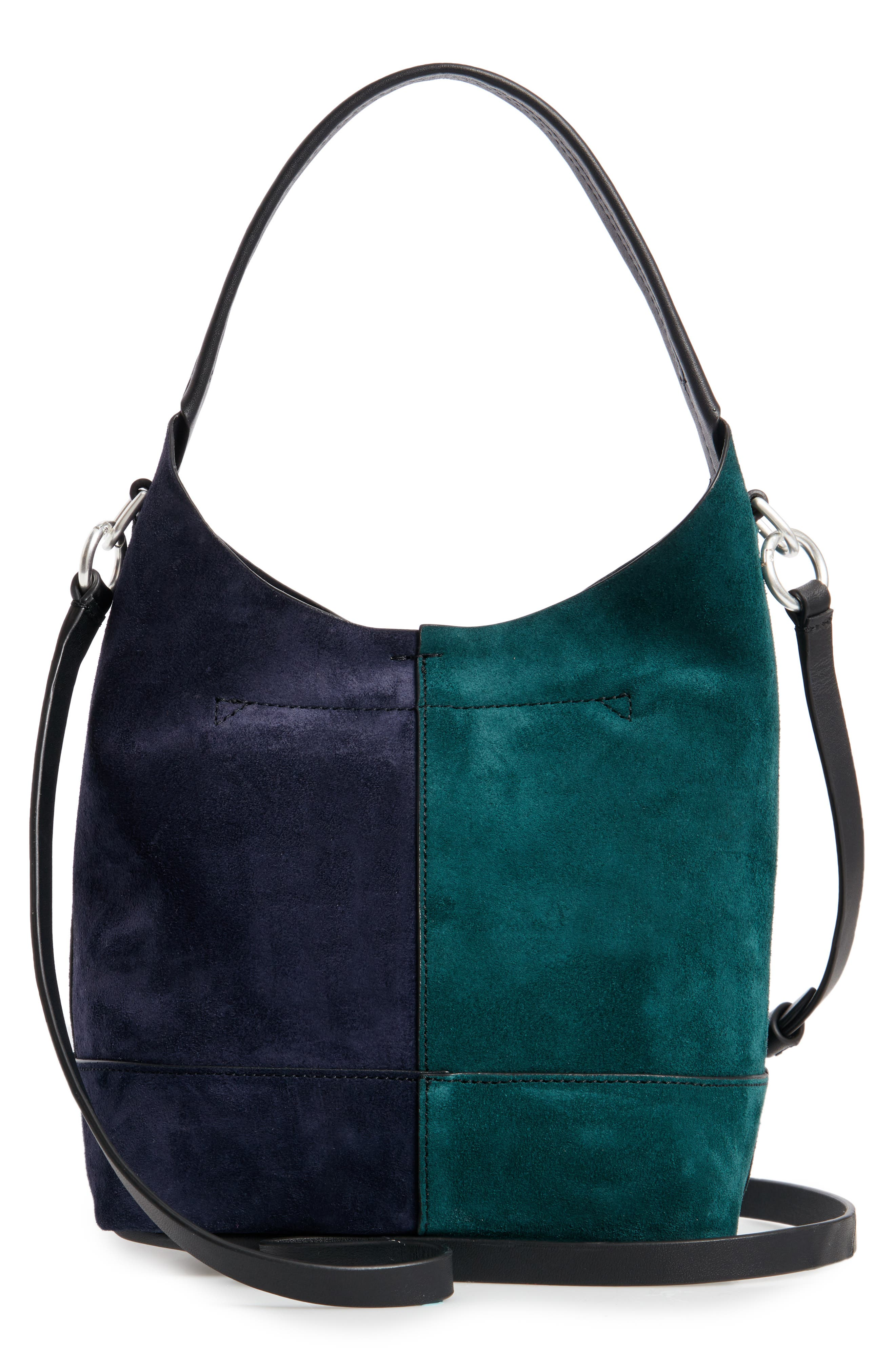 Mini Camden Suede Tote,                             Alternate thumbnail 3, color,                             FOREST