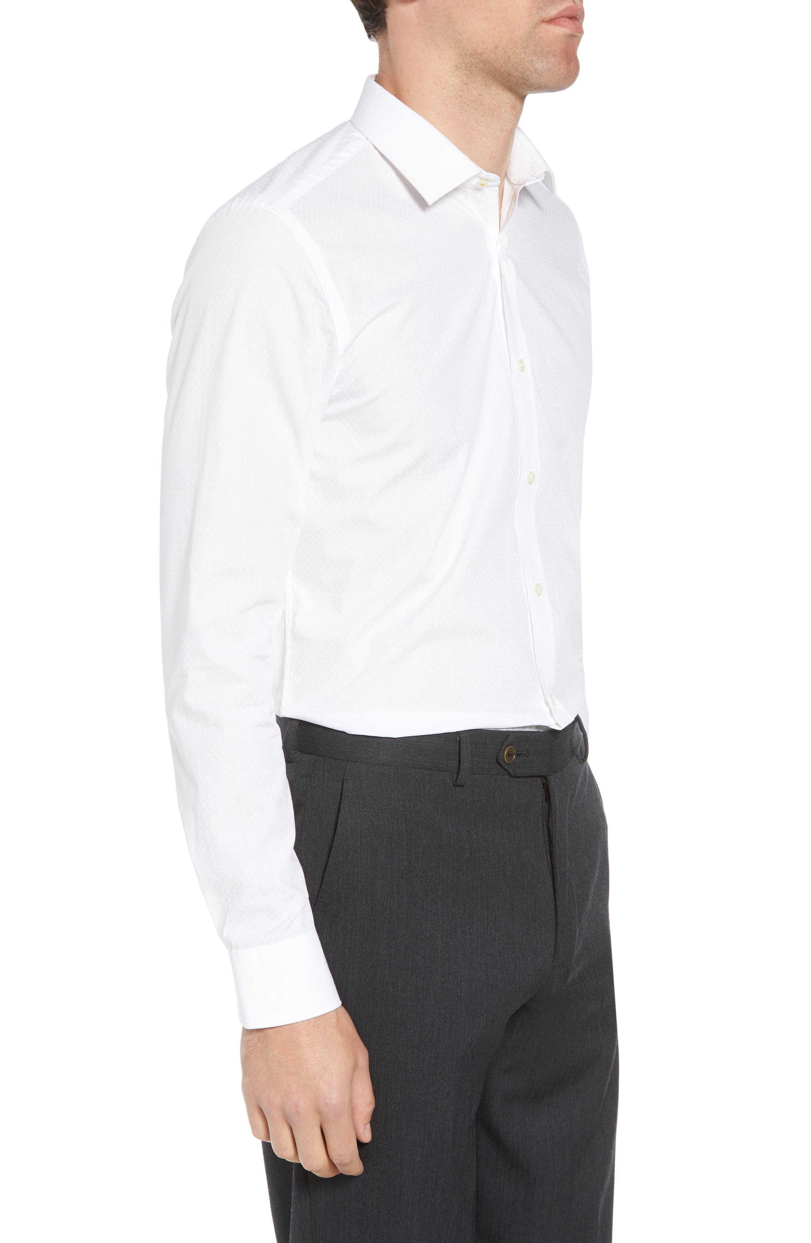 Loops Slim Fit Dress Shirt,                             Alternate thumbnail 4, color,                             110