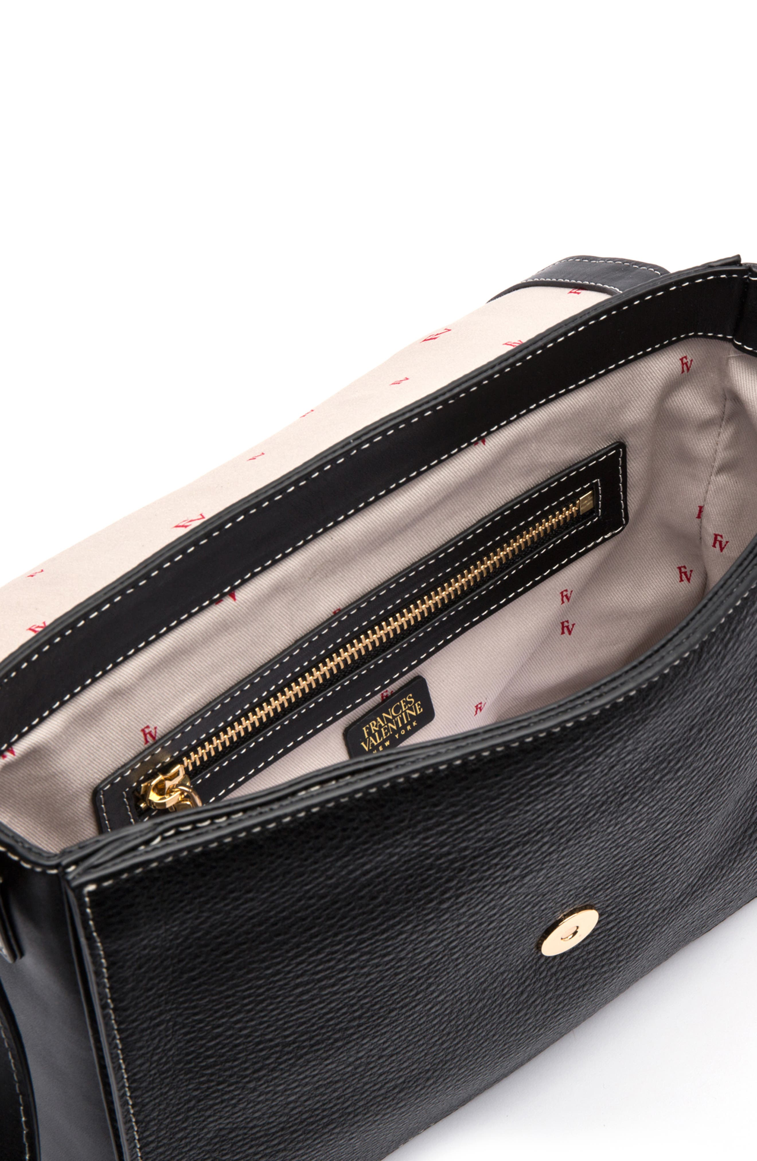 Midge Leather Crossbody Bag,                             Alternate thumbnail 3, color,                             001