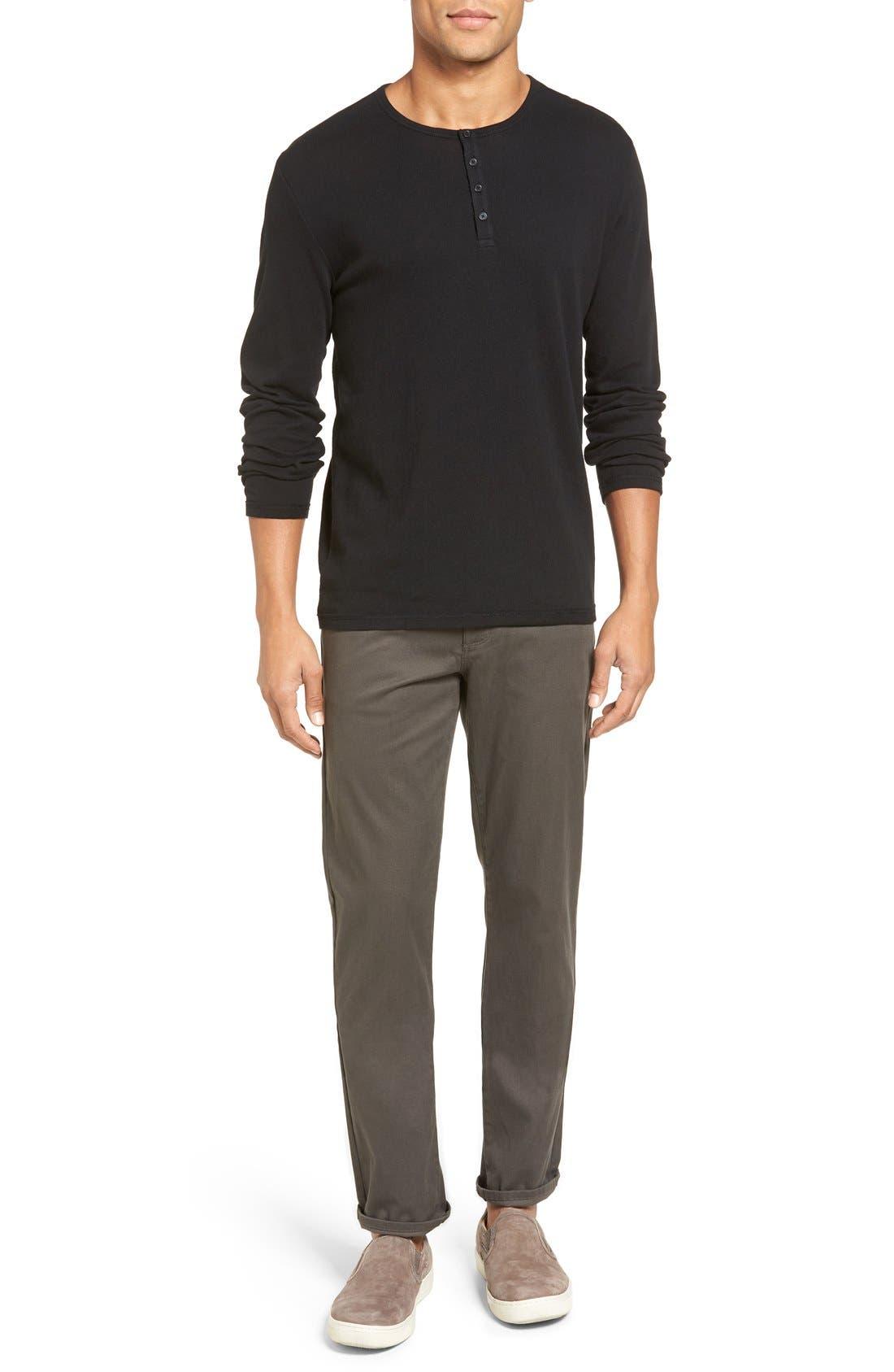 Soho Slim Fit Five-Pocket Pants,                             Alternate thumbnail 7, color,                             GREY