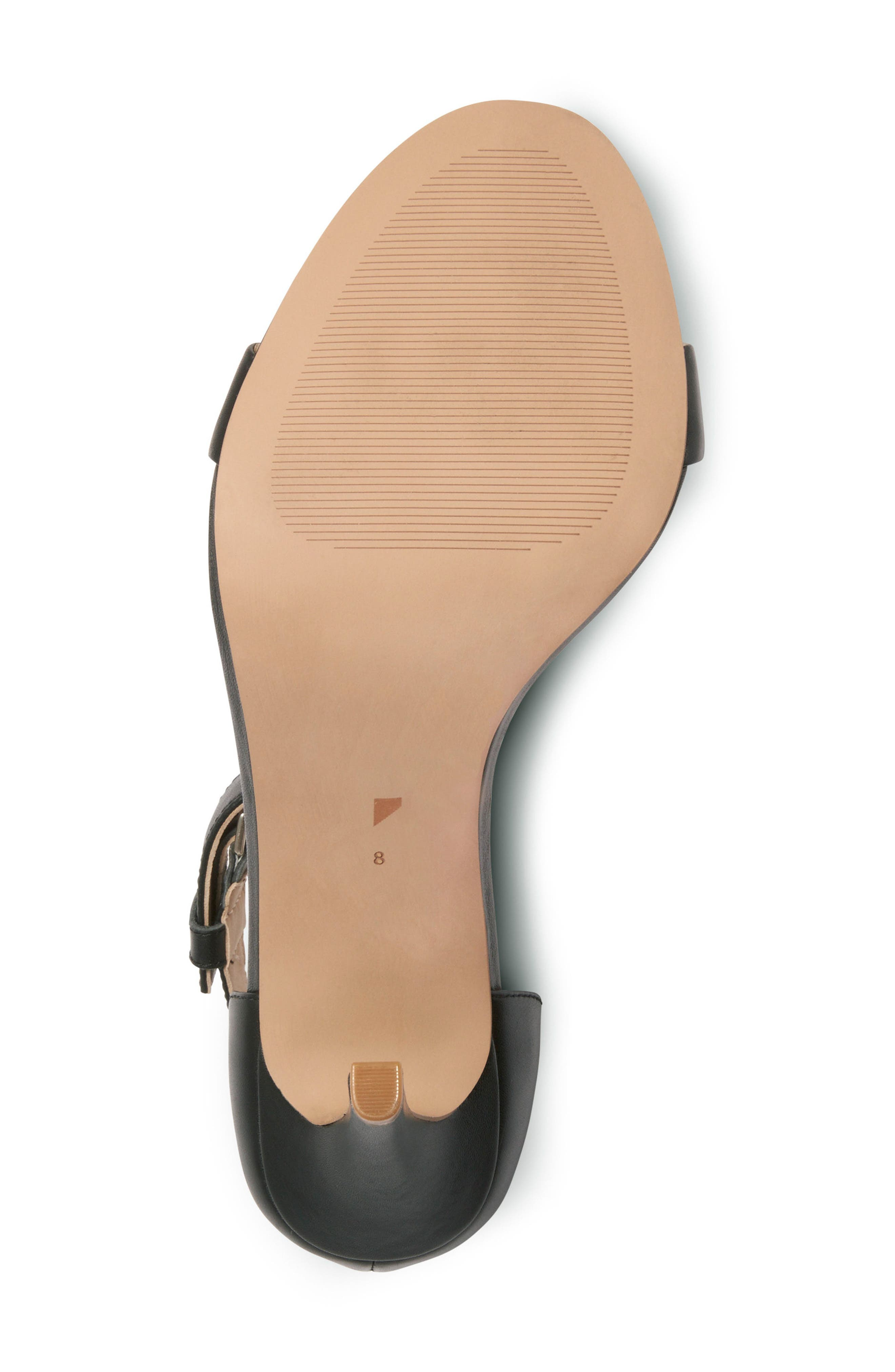 Ankle Strap Sandal,                             Alternate thumbnail 5, color,                             001